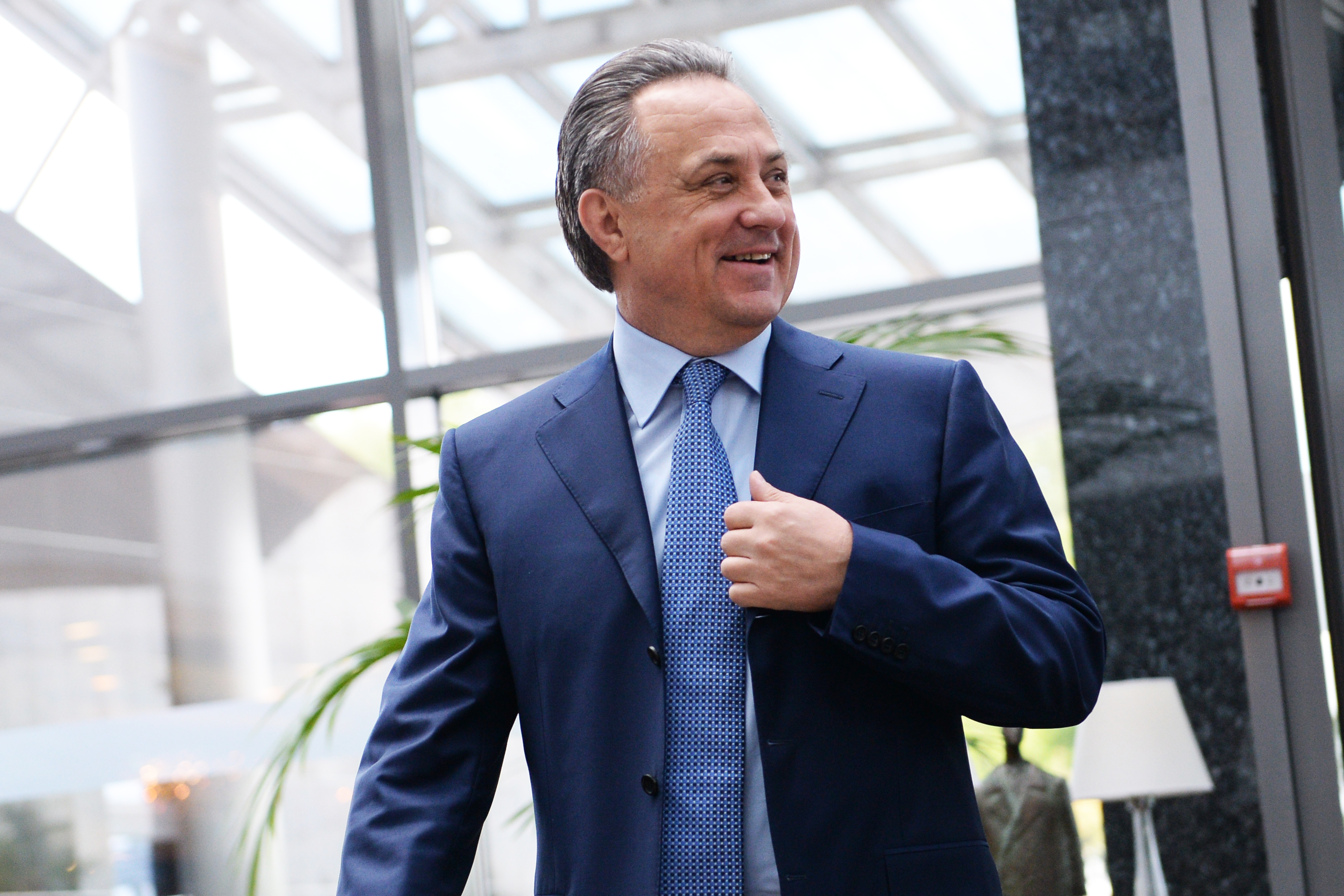 Russian Minister of Sport Vitaly Mutko in Moscow on May 24, 2016.