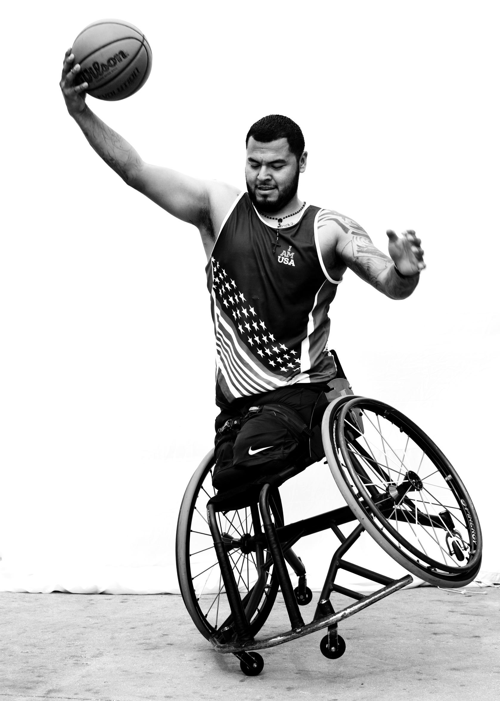 Jorge Salazar, USA, competed in wheelchair rugby, field and wheelchair basketball