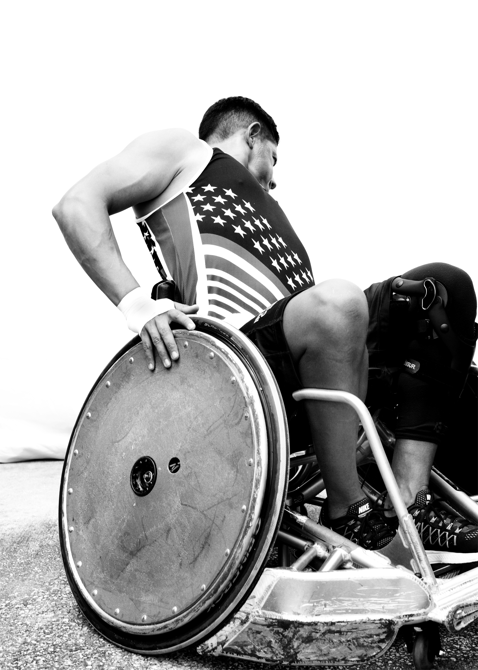 Anthony Rios, USA, competed in cycling, sitting volleyball and wheelchair rugby