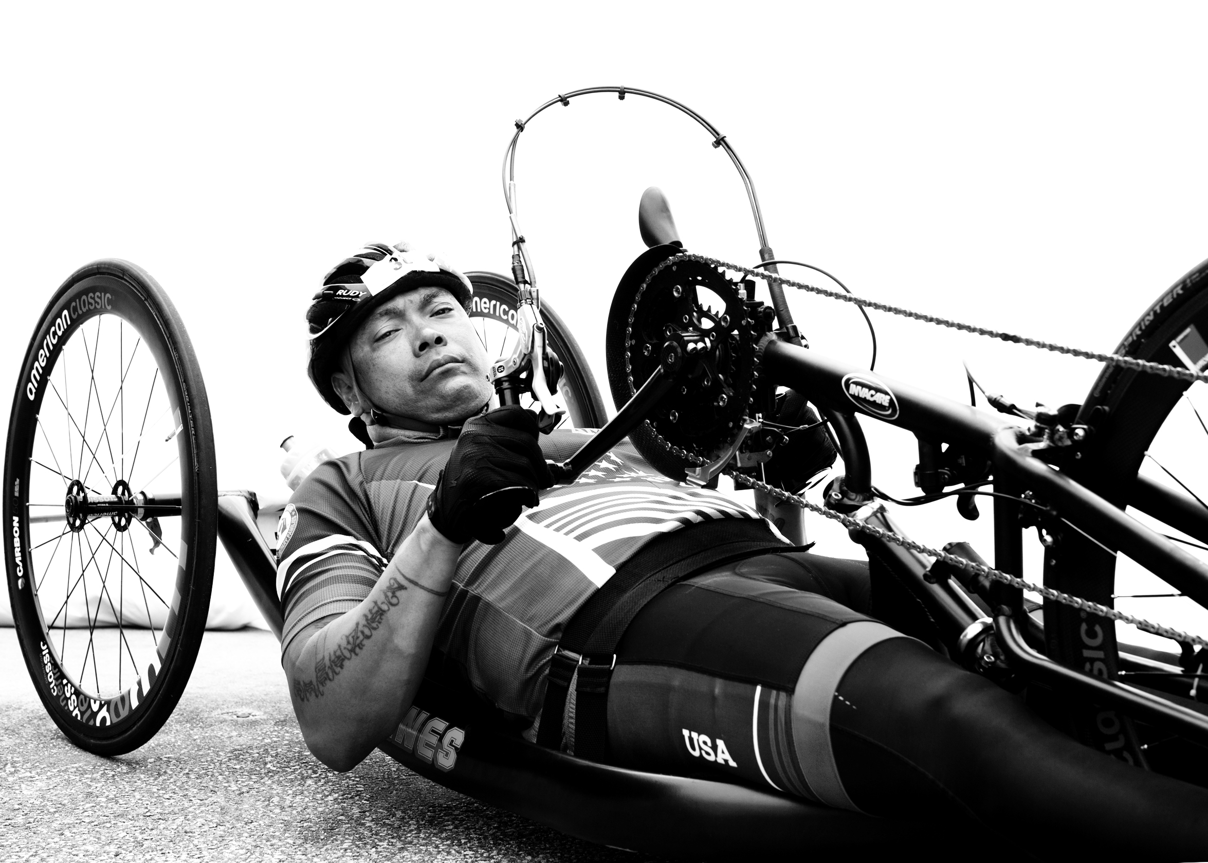 Ronnie Jimenez, USA, competed in cycling