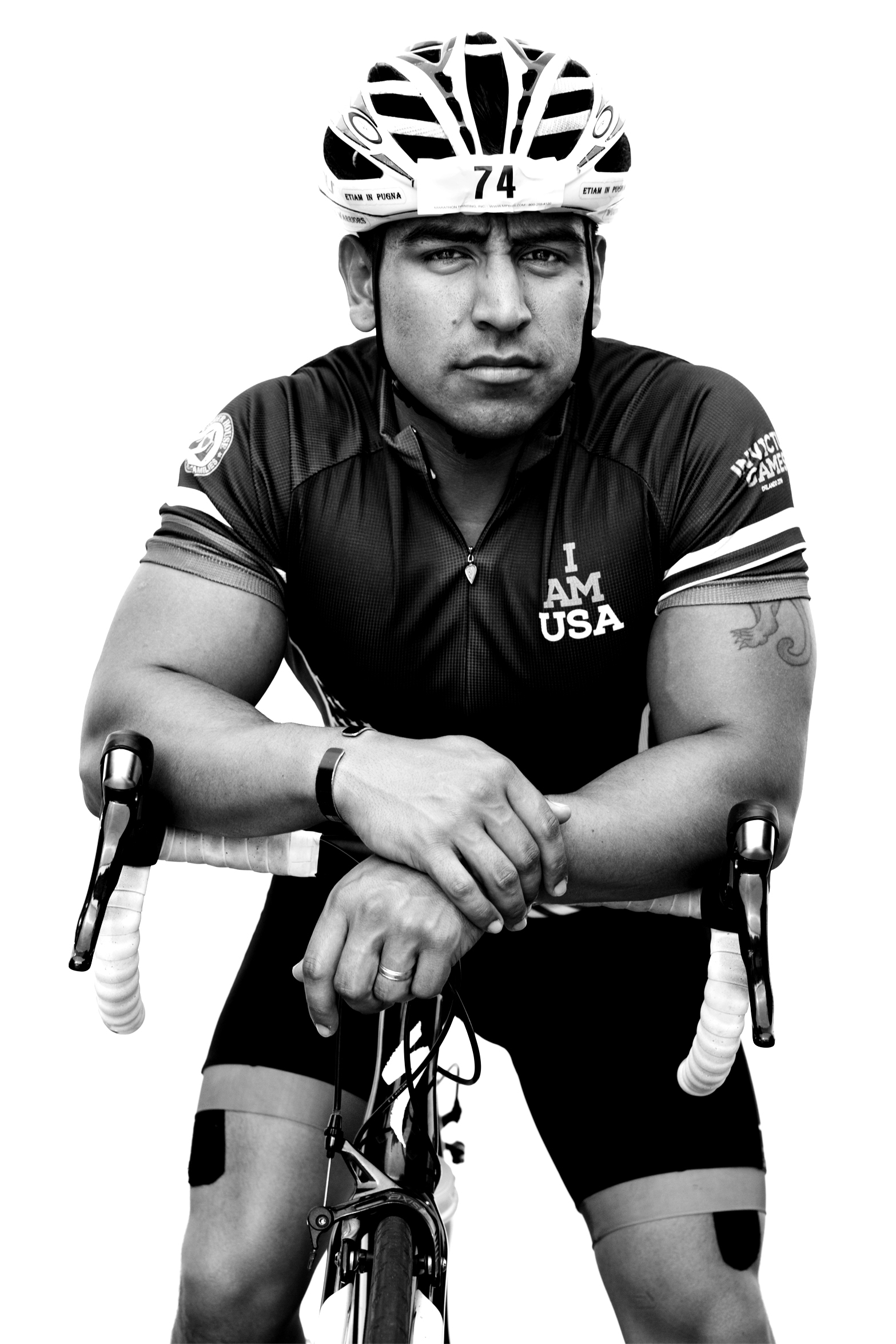 Rafael Cervantes, USA, competed in cycling, indoor rowing and sitting volleyball