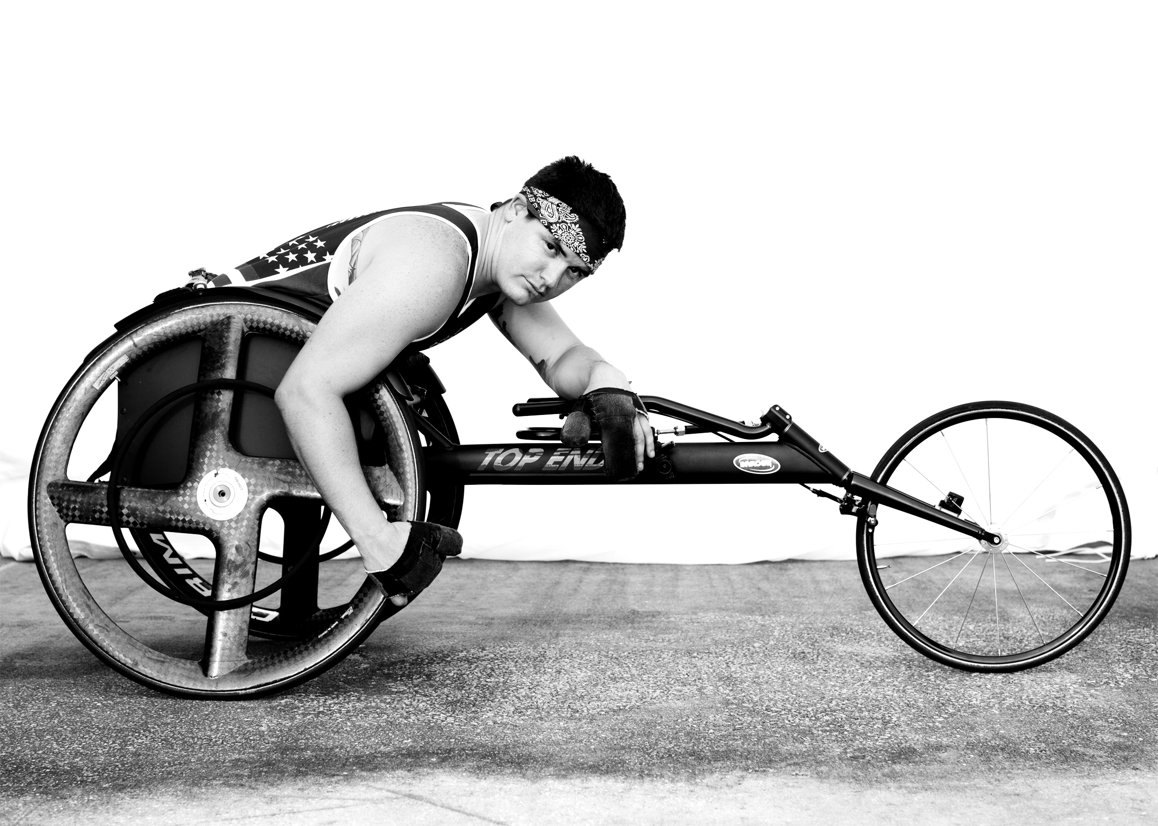 Ivan Sears, USA, competed in track and indoor rowing