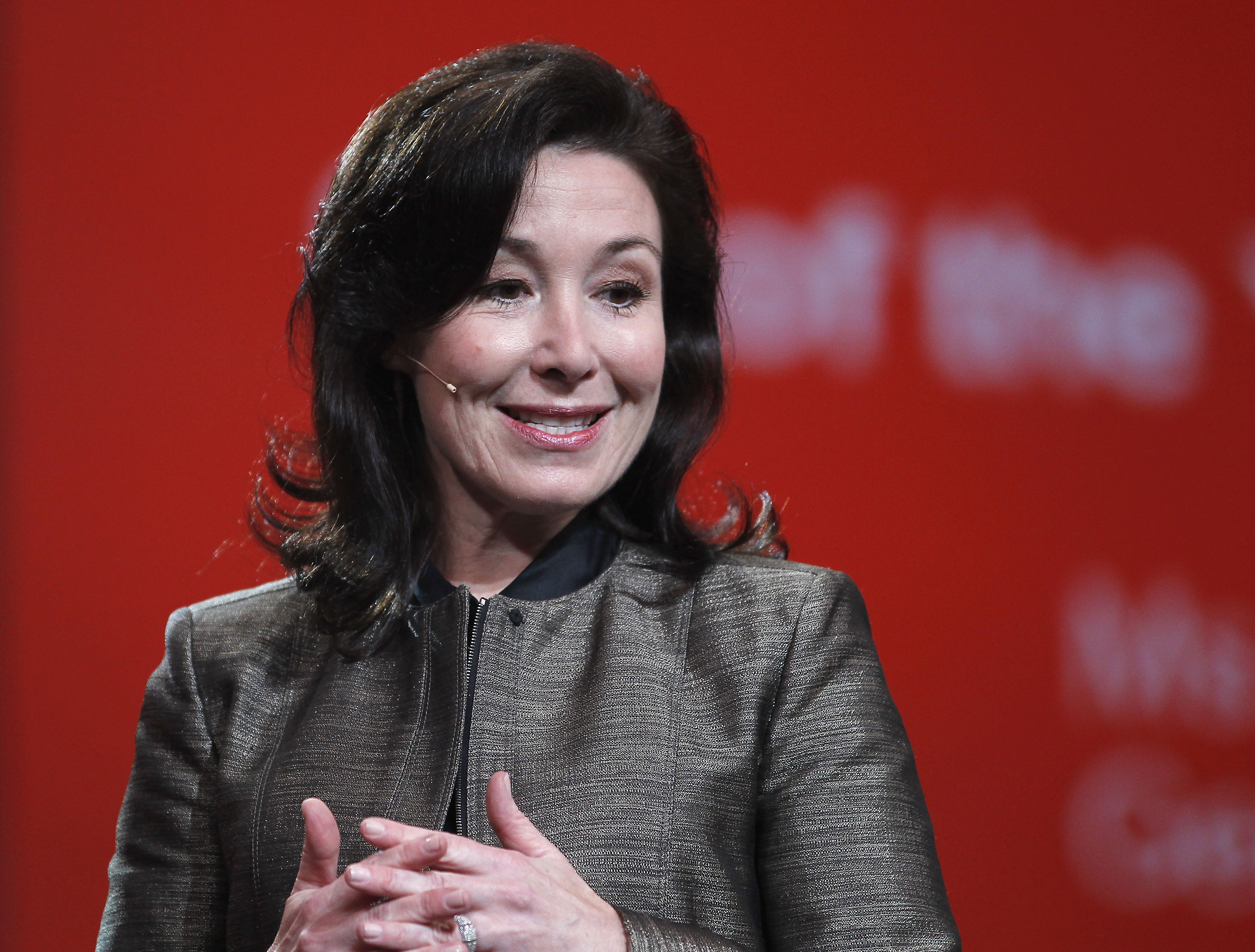 Safra Catz speaks at the Oracle OpenWorld Conference in San Francisco, on Sept. 19, 2010.