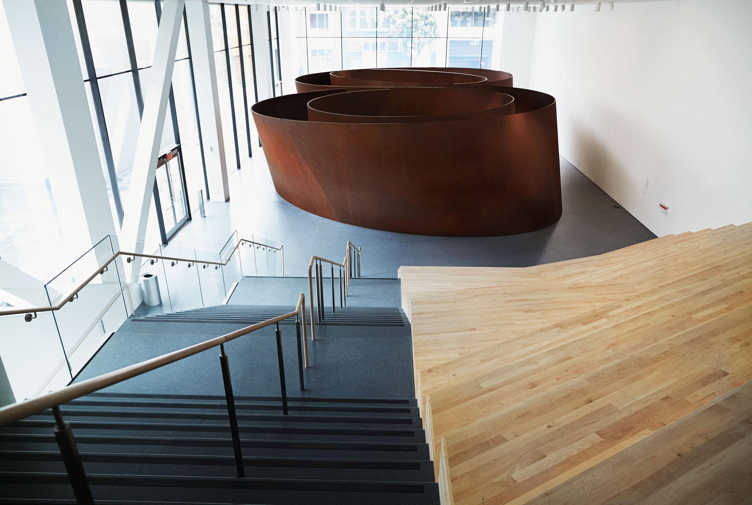 The Snøhetta addition gives Richard Serra's Sequence, 2006, a room to itself
