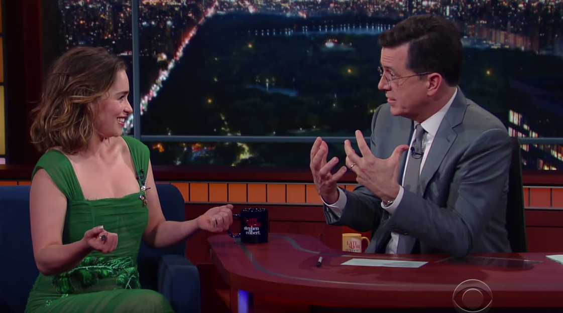 Emilia Clarke on The Late Show With Stephen Colbert