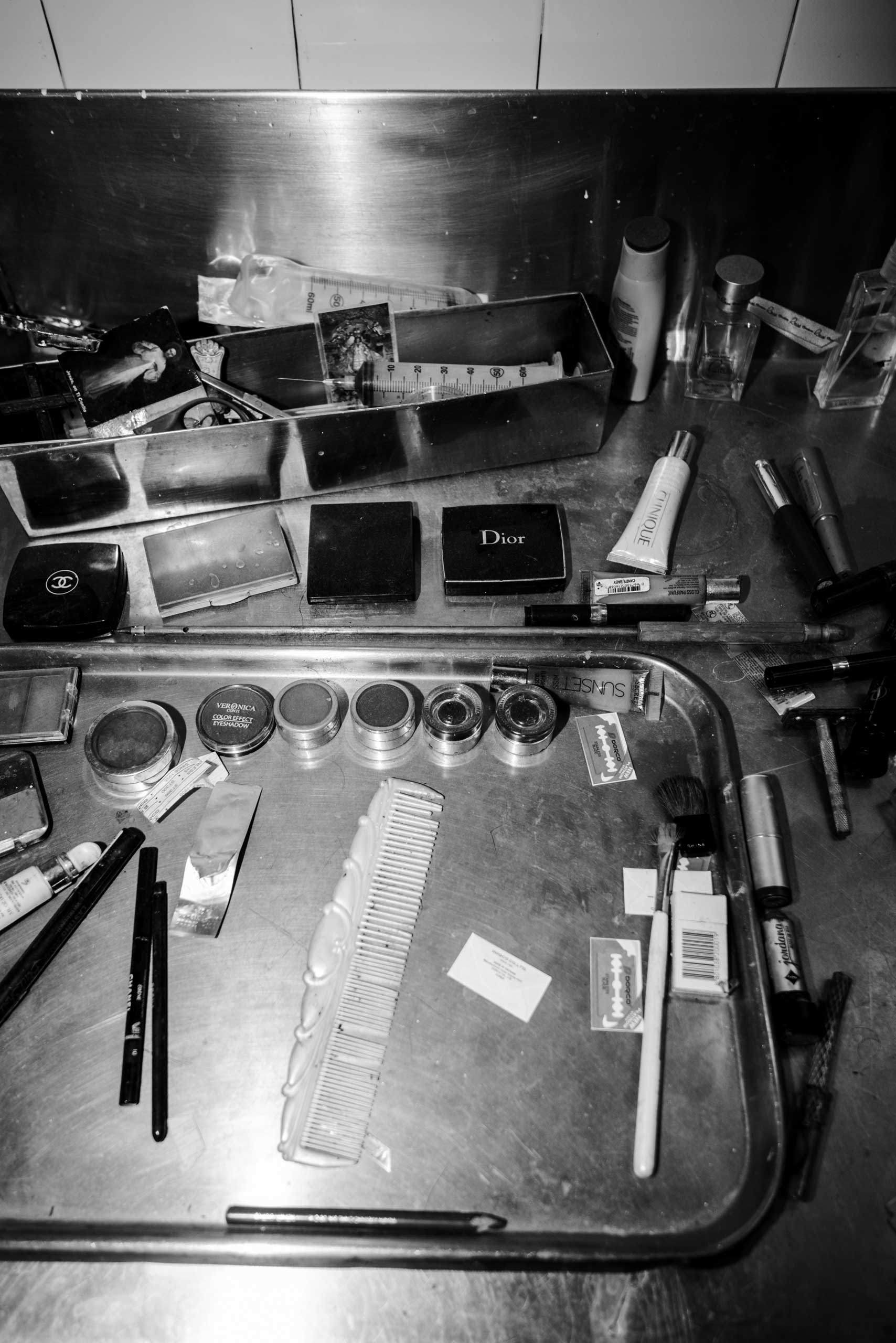 Embalmer's tools used to prepare the bodies. March 7, 2016.