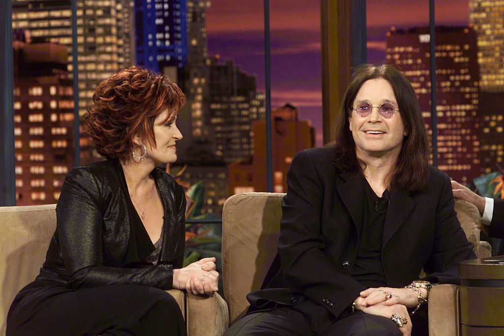 Sharon and Ozzy Osbourne during an interview with Jay Leno on March 11, 2005.