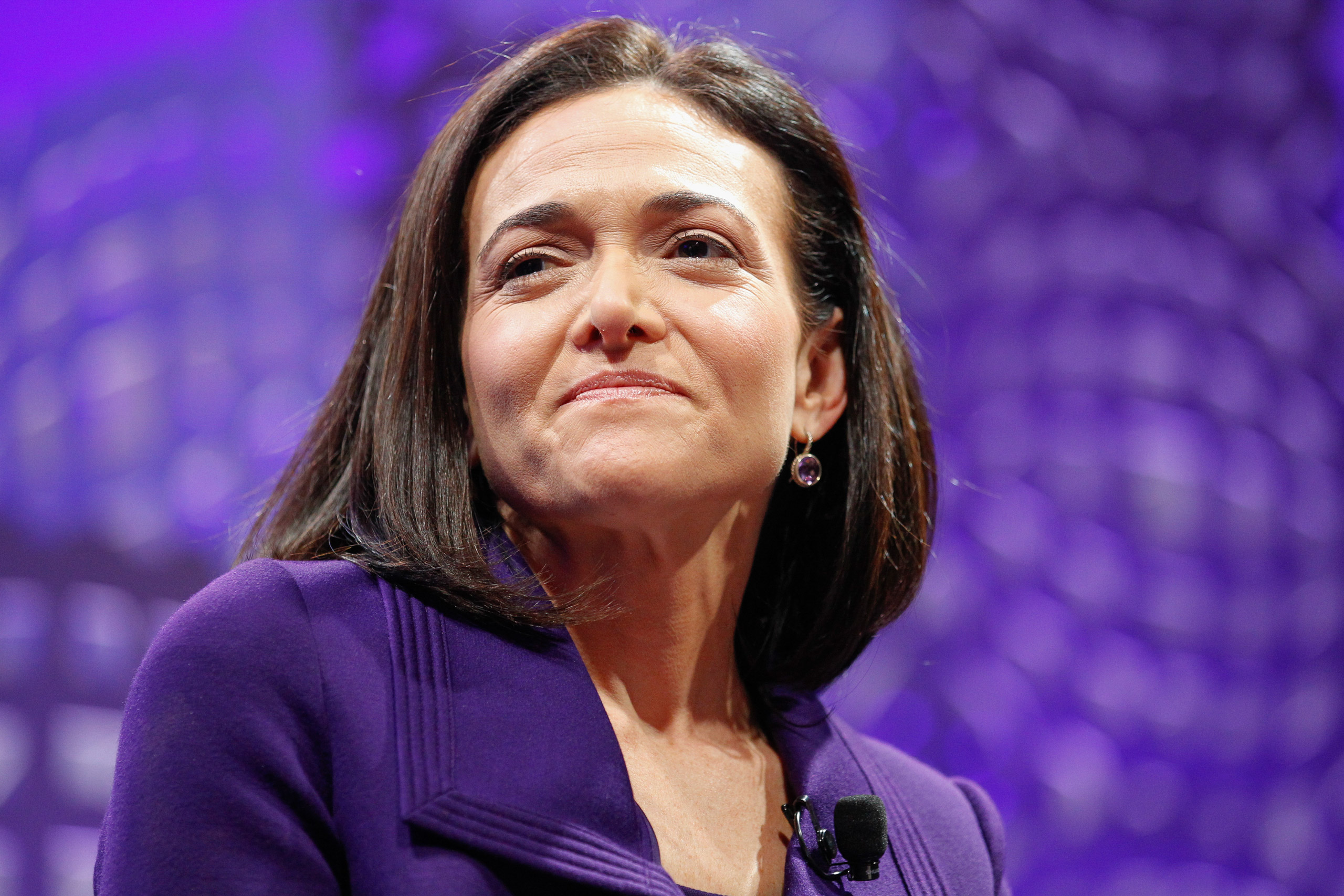 Sheryl Sandberg on a panel at the Fortune Global Forum - Day2 at the Fairmont Hotel in San Francisco on Nov. 3, 2015.