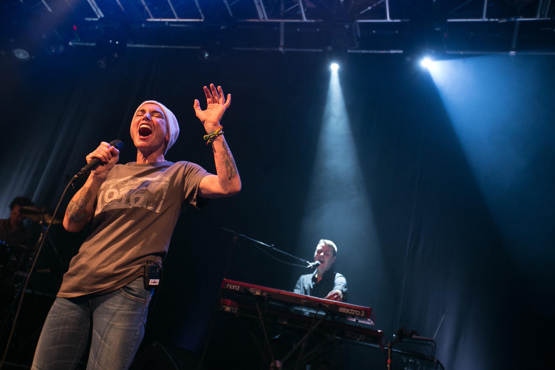 Sinead O'Connor performs in Dublin, Ireland on Dec. 16, 2014.