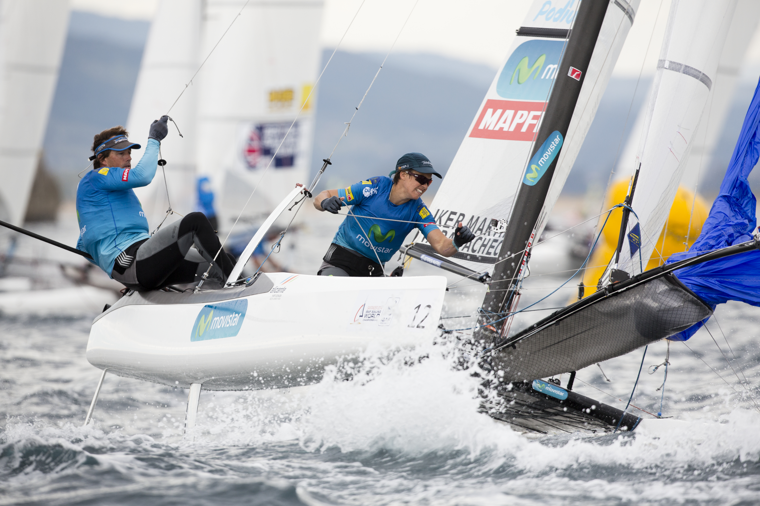 Tara Pacheco during the 2014 ISAF Sailing World Championships in in Santander, Spain.