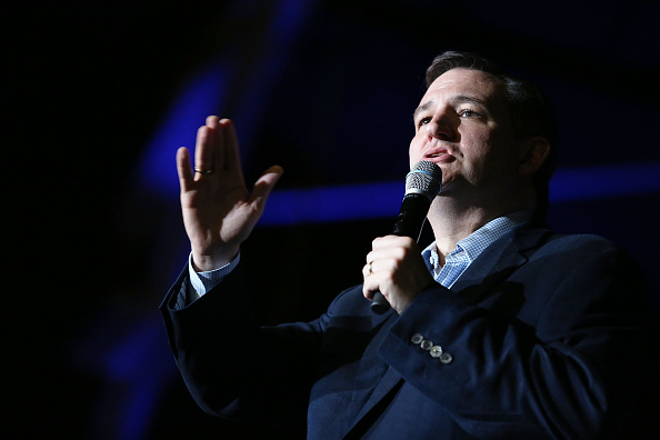 Republican presidential candidate Sen. Ted Cruz (R-TX) speaks during a campaign rally at the Indiana State Fairgrounds on May 2, 2016 in Indianapolis, Indiana.