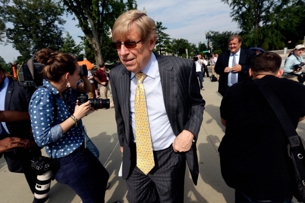 Attorney Ted Olson walks up to the U.S. Supreme Court building June 24, 2013 in Washington DC. The high court is expected to rule this week on some high profile decisions including California's Proposition 8, the controversial ballot initiative that defines marriage as between a man and a woman.