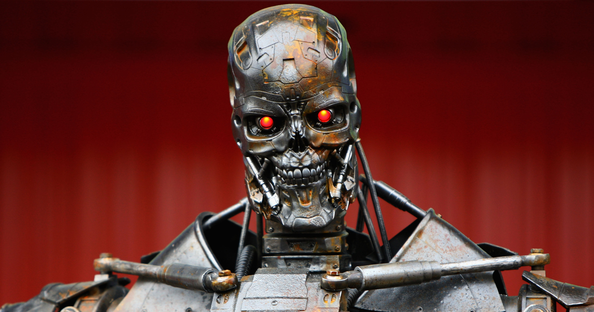The Terminator robot is photographed in Barcelona on May 9, 2009.