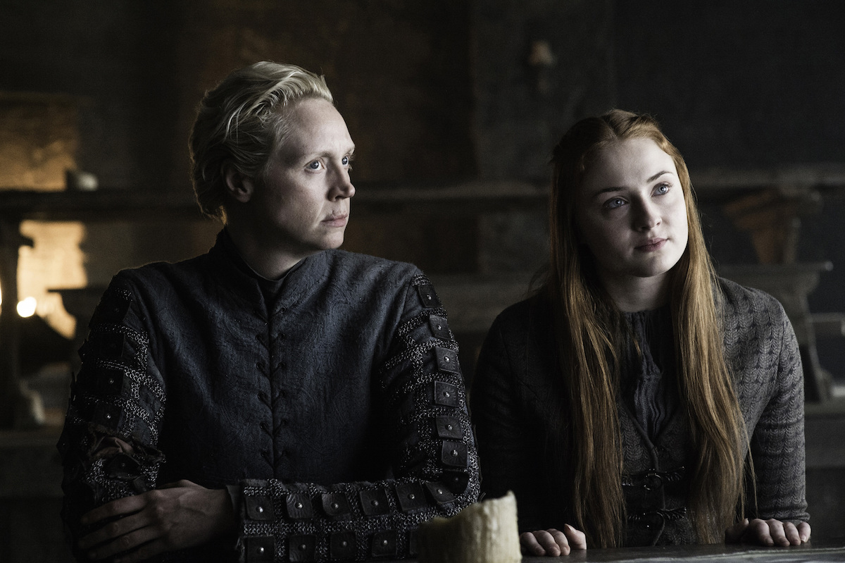 Gwendoline Christie and  Sophie Turner on Game of Thrones