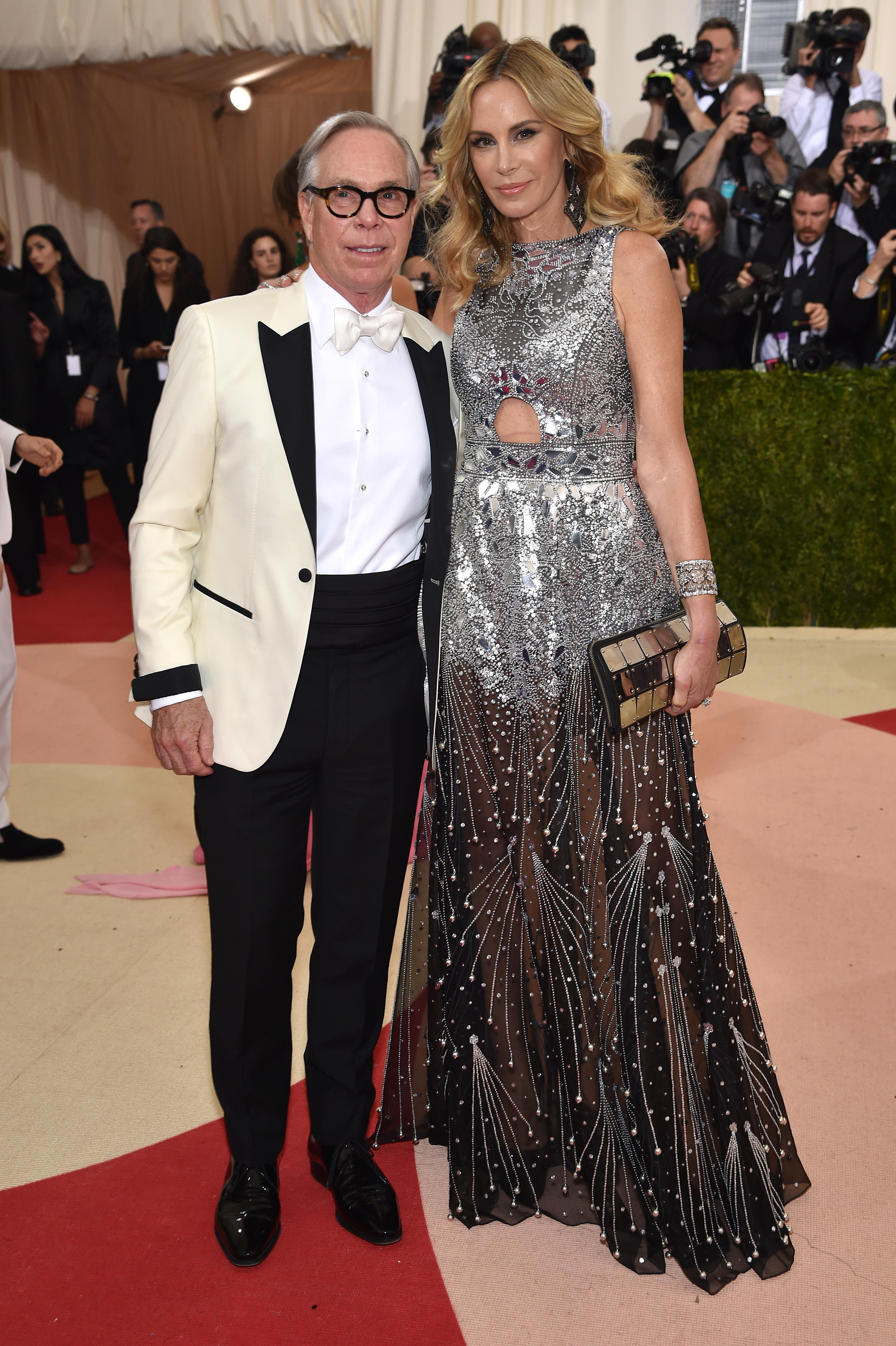 Tommy Hilfiger and Dee Ocleppo attend  Manus x Machina: Fashion In An Age Of Technology  Costume Institute Gala at Metropolitan Museum of Art on May 2, 2016 in New York City.
