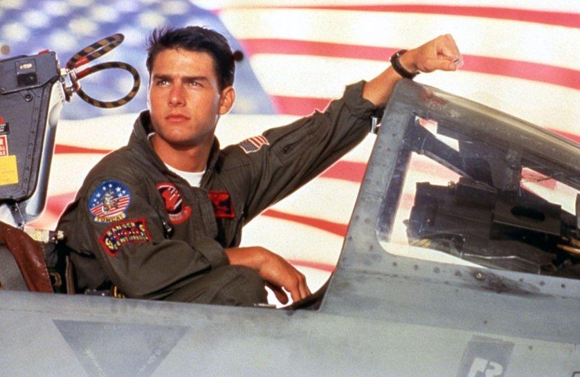 "Tom Cruise as Lt. Pete ""Maverick"" Mitchell in Top Gun, 1986."
