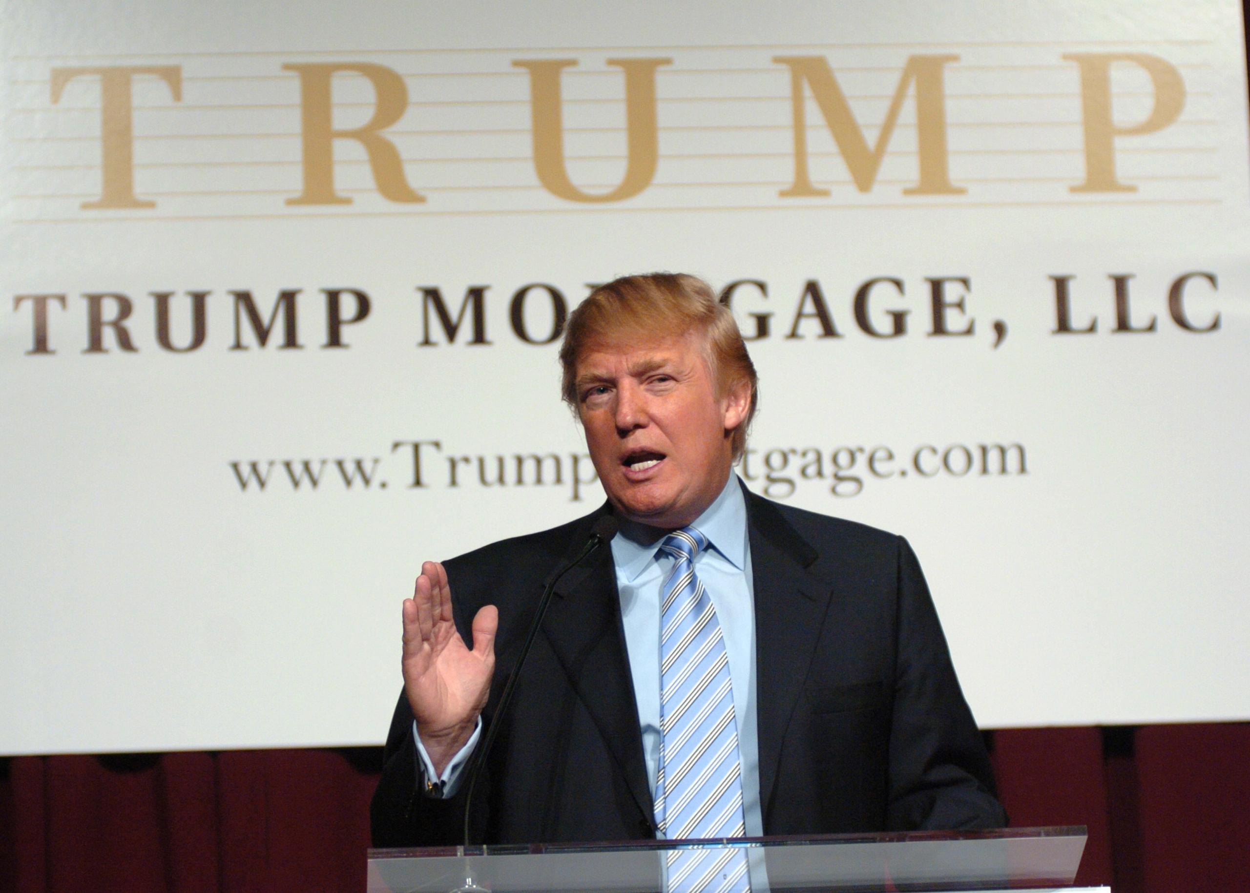 Donald Trump during Donald Trump New York City Press Launch For Latest Venture Trump Mortgage LLC at Trump Tower in New York City, New York, United States. (Photo by J. Kempin/FilmMagic)