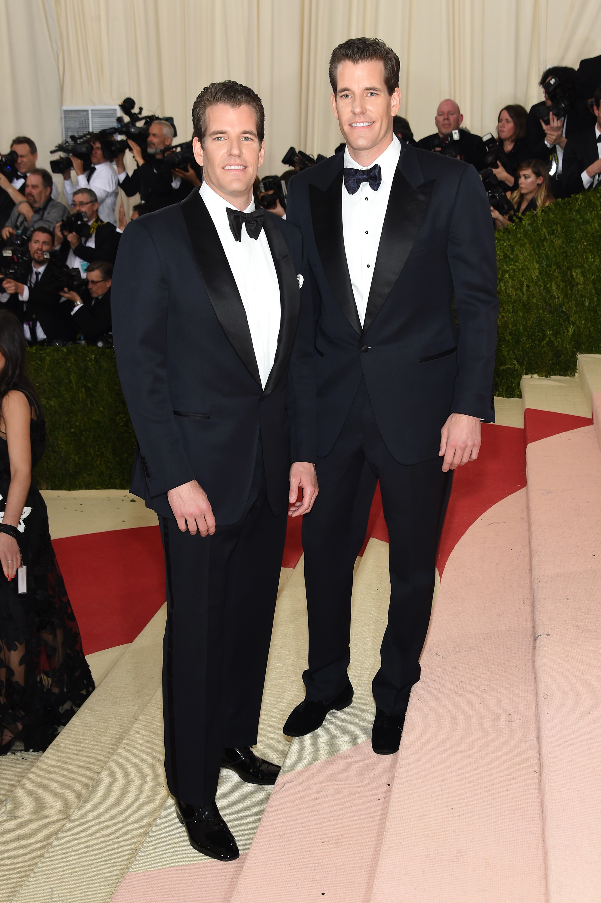 The Winklevoss twins attend  Manus x Machina: Fashion In An Age Of Technology  Costume Institute Gala at Metropolitan Museum of Art on May 2, 2016 in New York City.