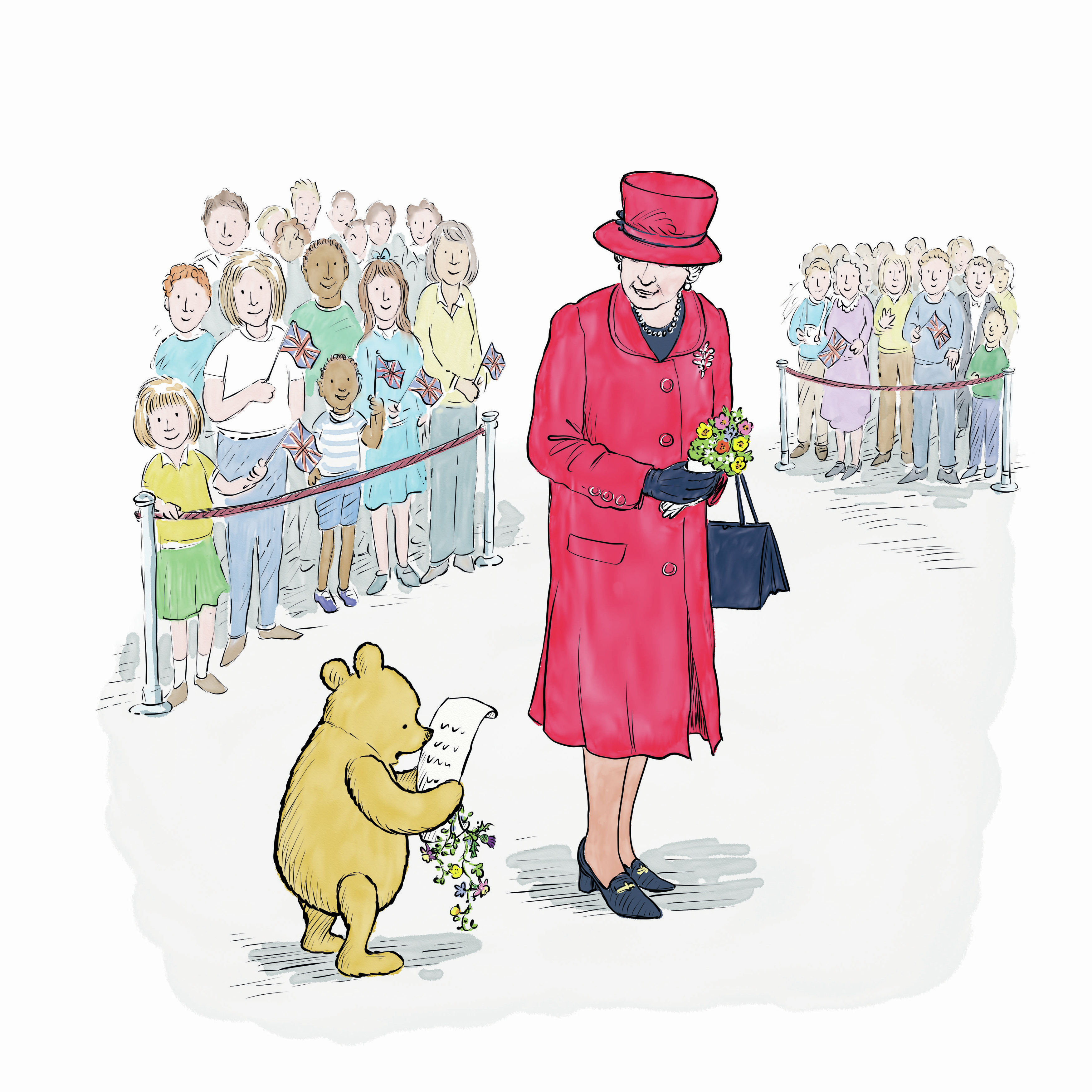 Winnie-The-Pooh And The Royal Birthday, a new adventure story has been released to celebrate both of their 90th birthdays, May 26, 2016.