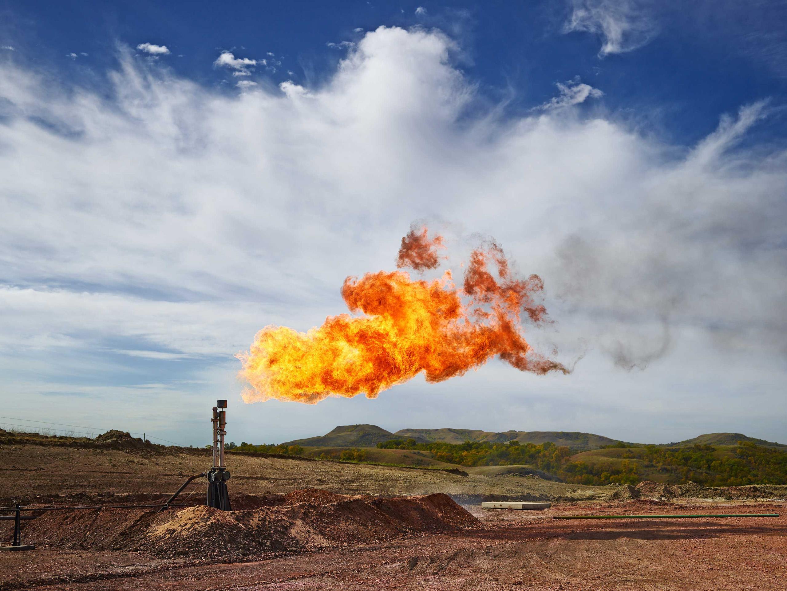 Gas Flare. Mckenzie County, North Dakota, 2014.