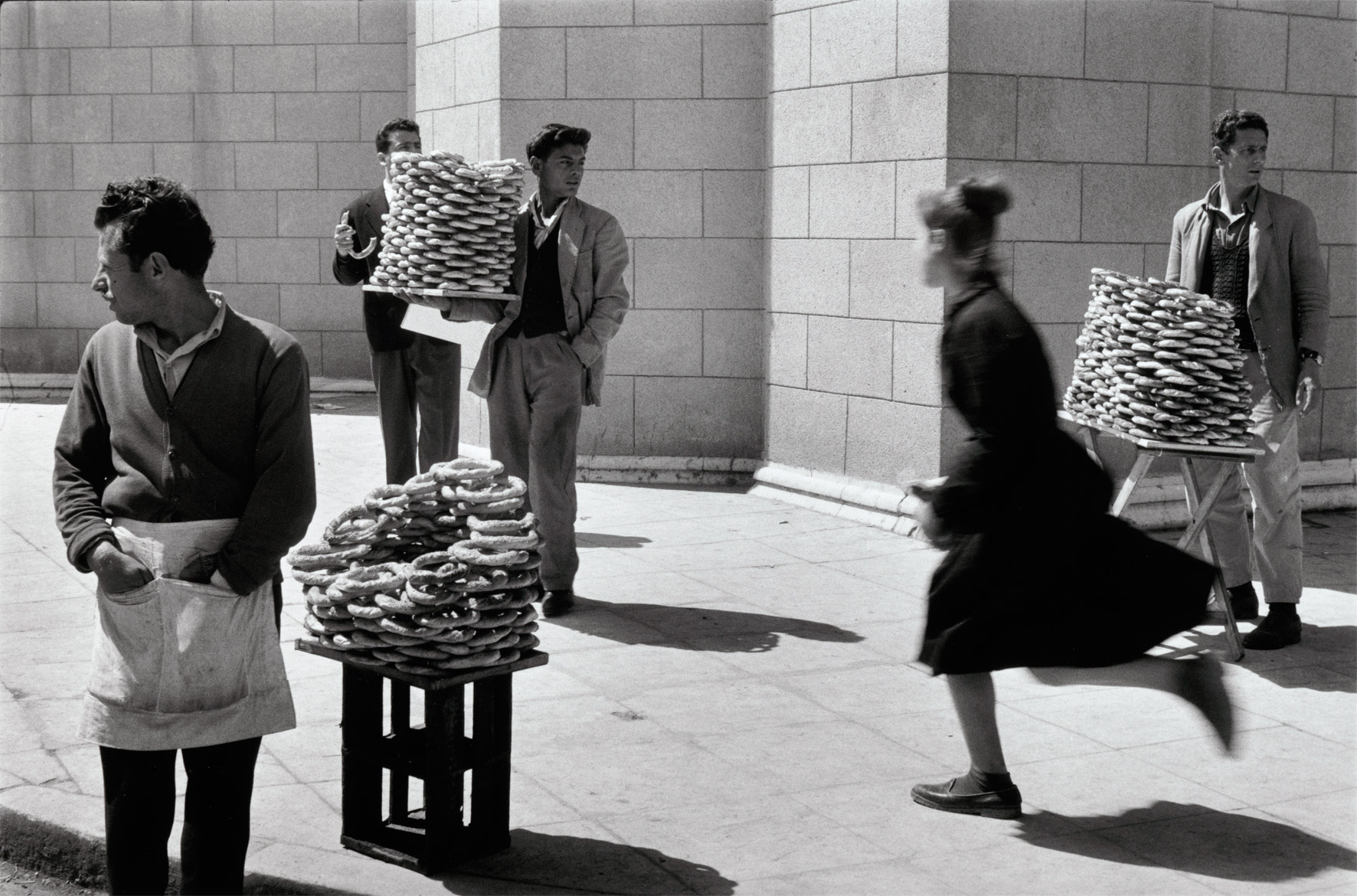 Bread sellers, Athens, Greece, 1958.