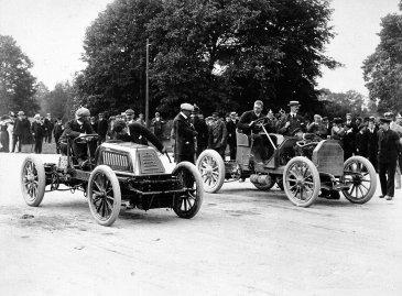 C S Rolls versus J E Hutton for the 50 Guinea Cup, Phoenix Park, Dublin, 1903.
