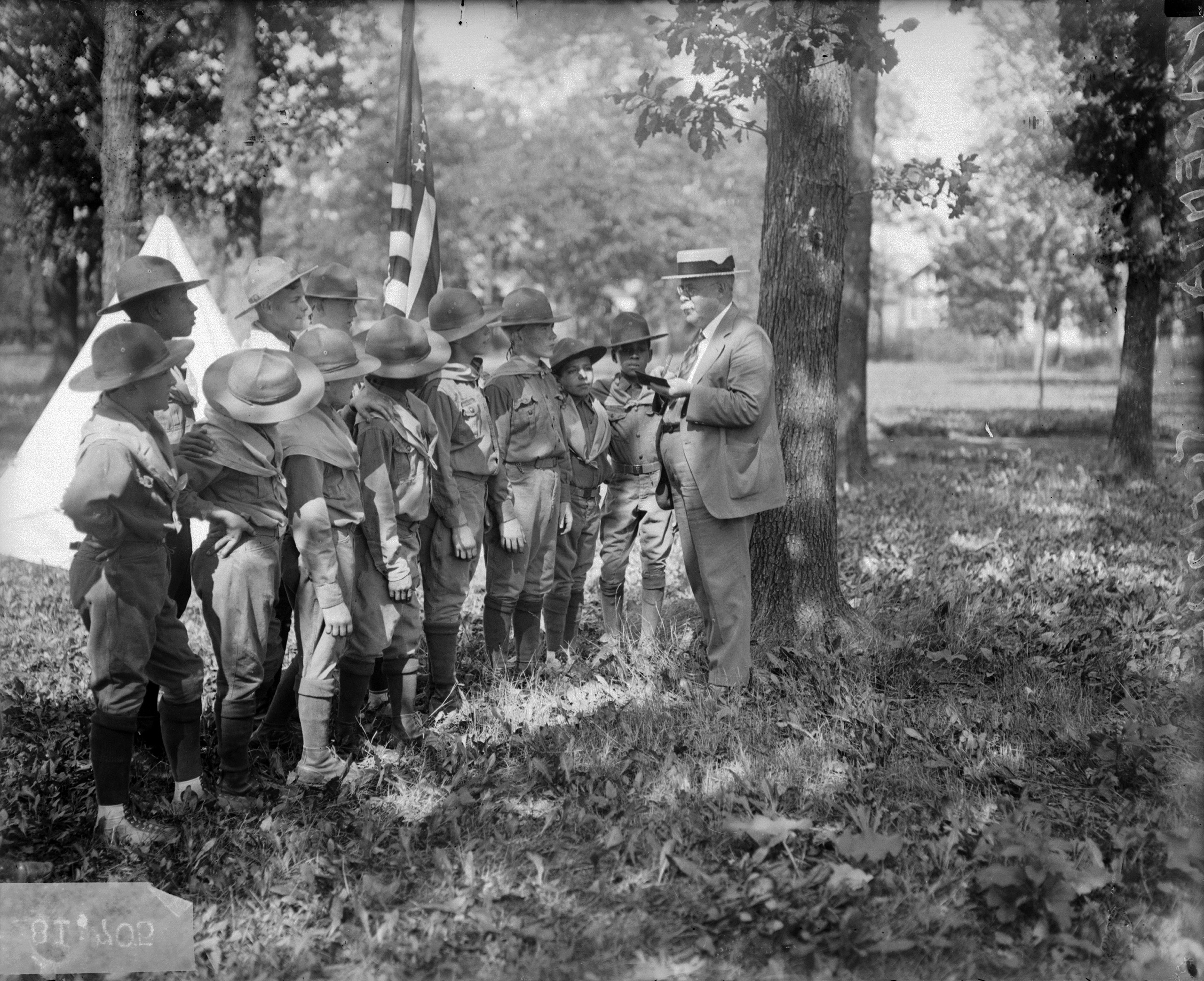 Boy Scouts at the Parental School for Boys in Chicago. 1926.