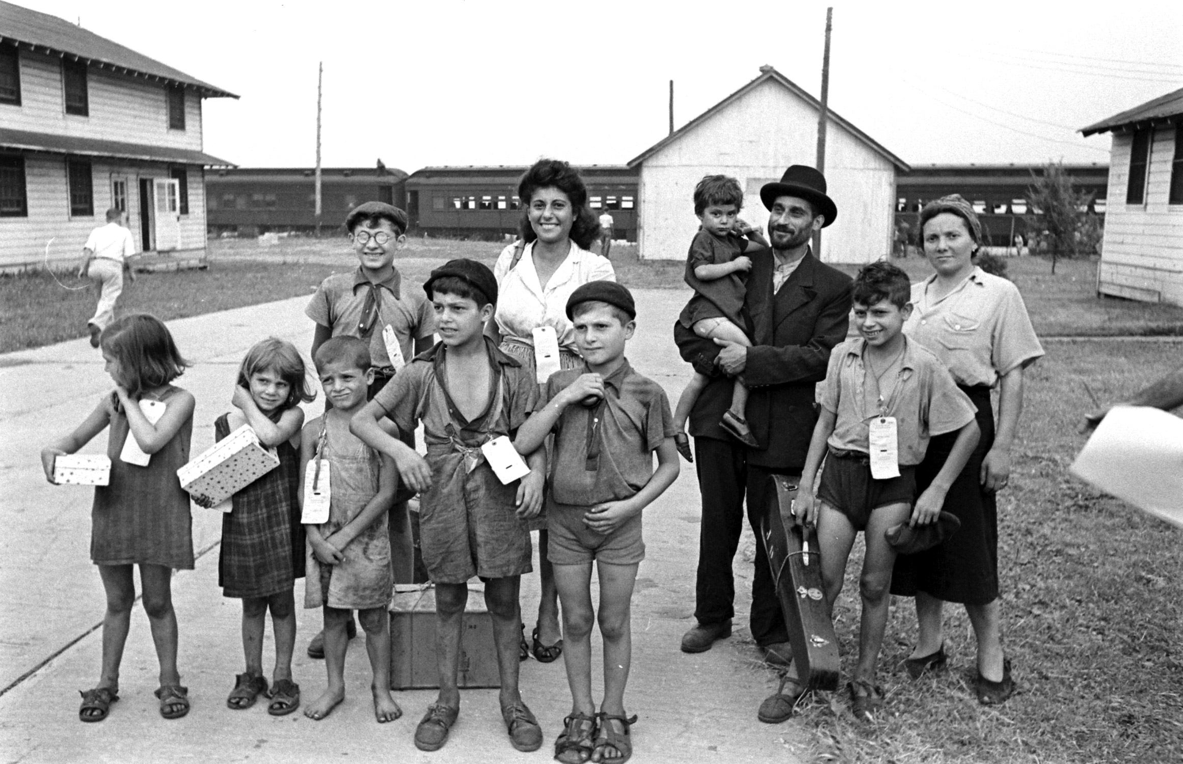 Refugees from Europe at Fort Ontario in Oswego, N.Y., 1944.