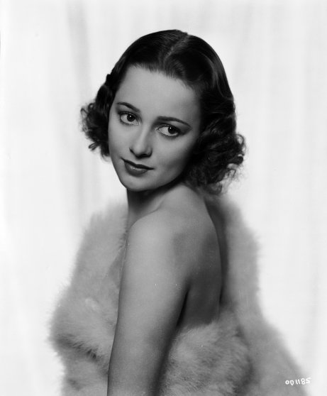 Portrait of Olivia de Havilland, circa 1936.