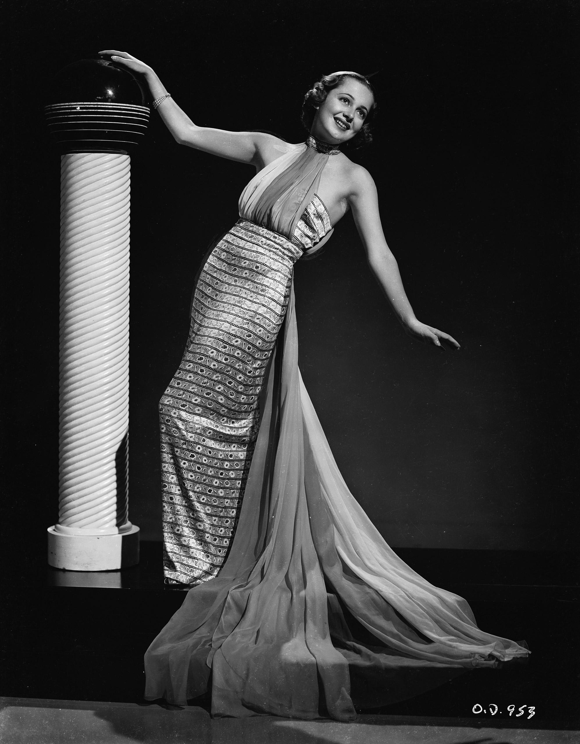 Portrait of Olivia de Havilland, circa 1936.