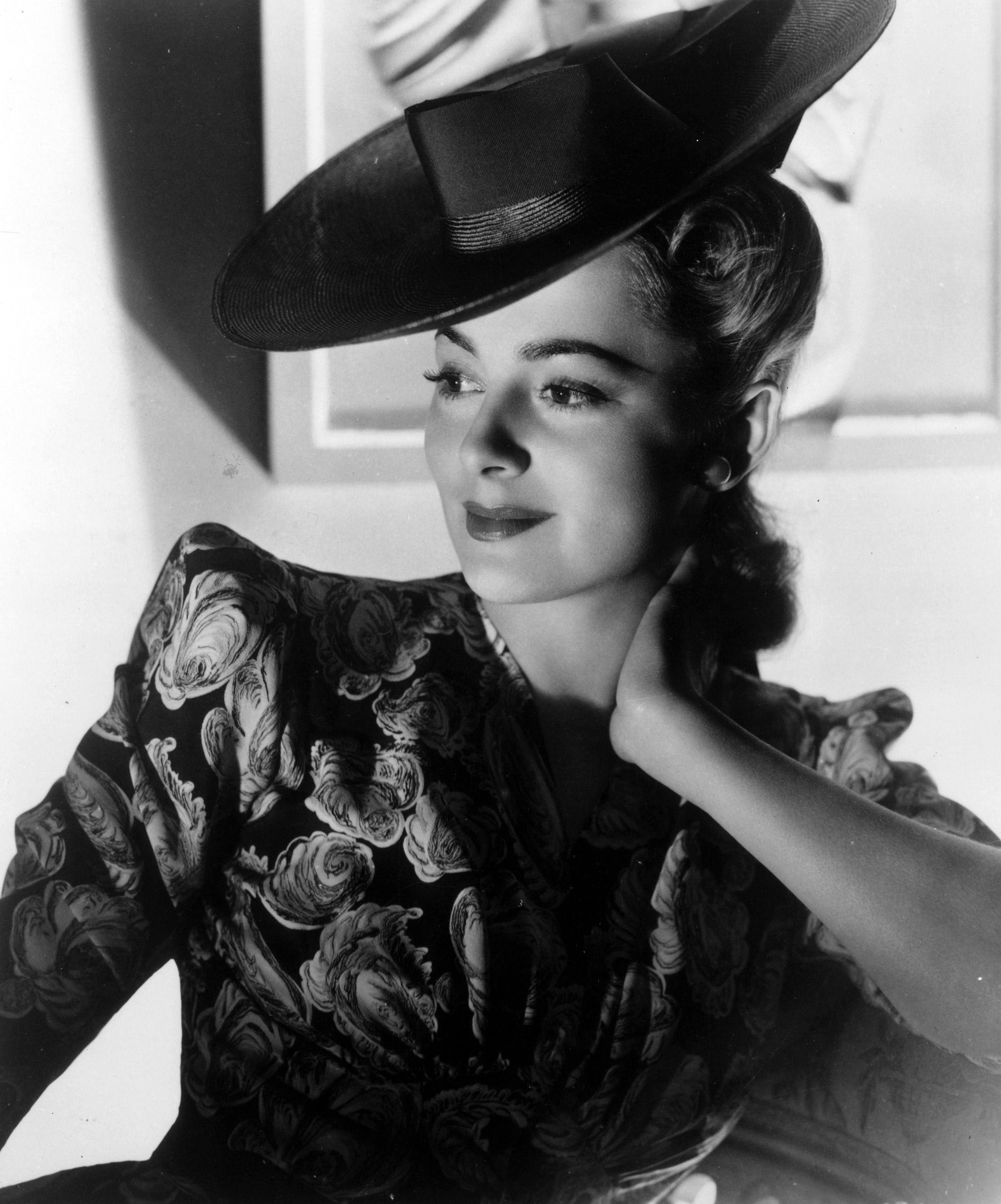Portrait of Olivia de Havilland, circa 1945.