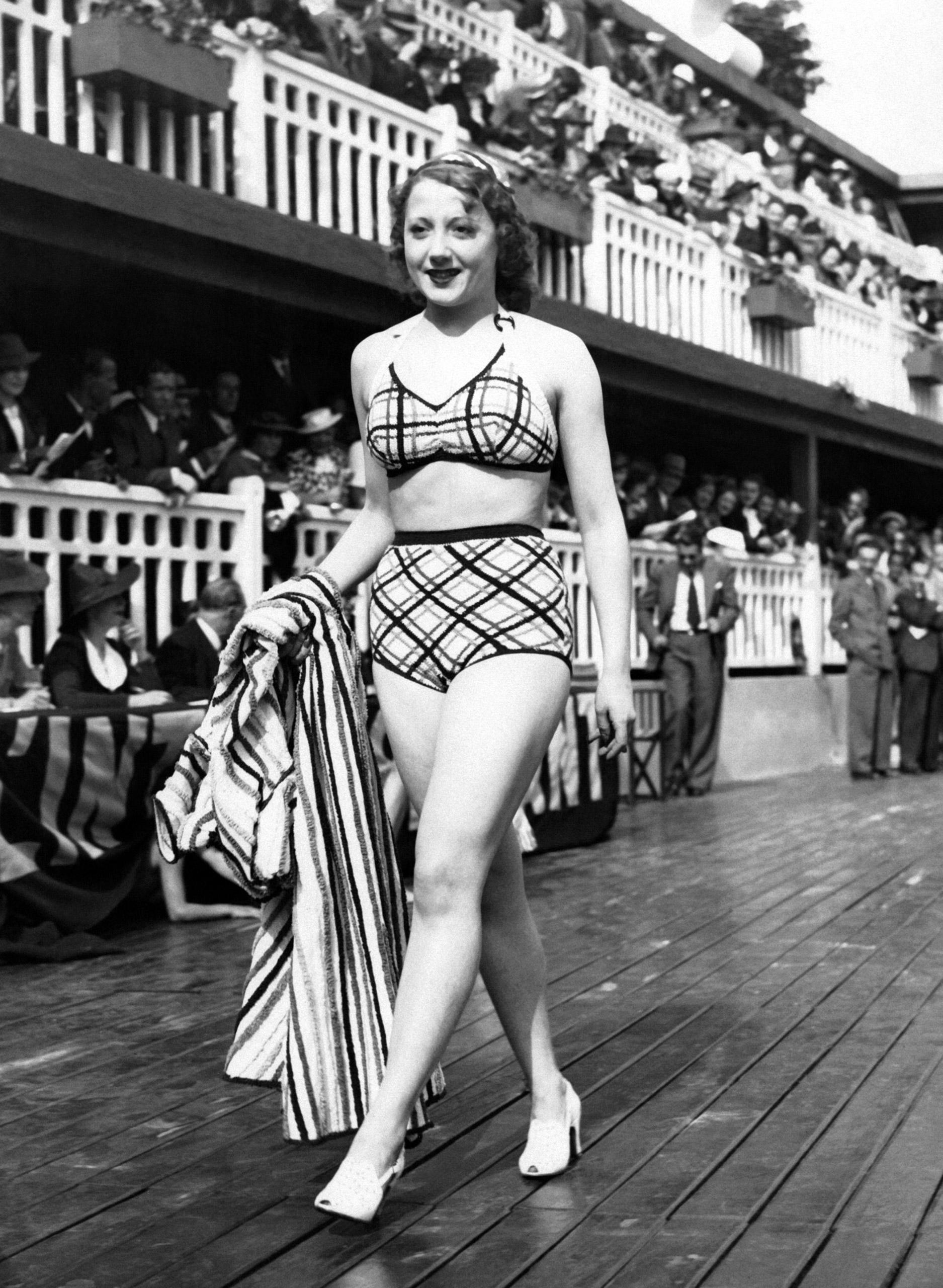 Swimsuit fashion in Paris, France, circa 1930.