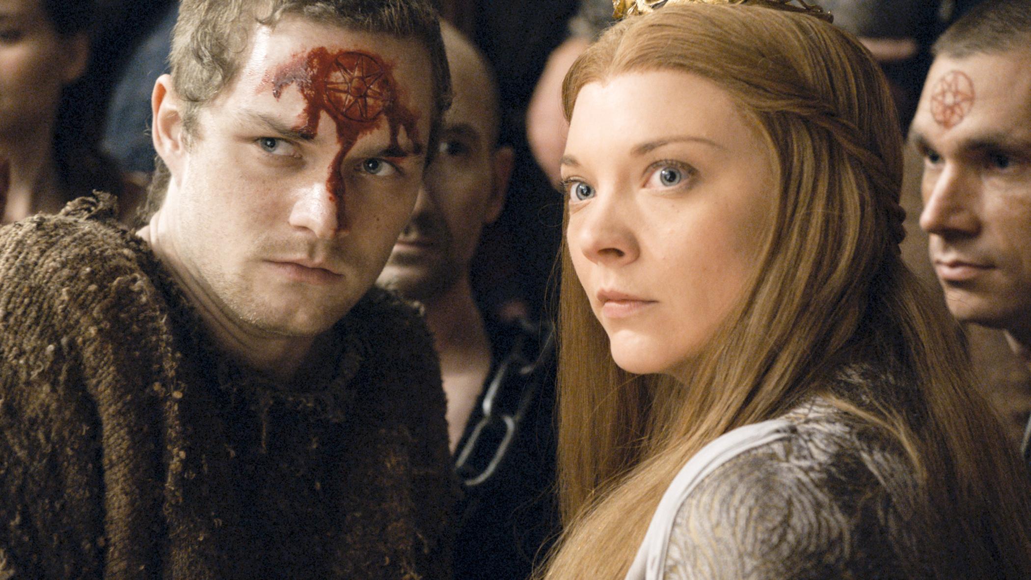 Finn Jones and Natalie Dormer in Game of Thrones