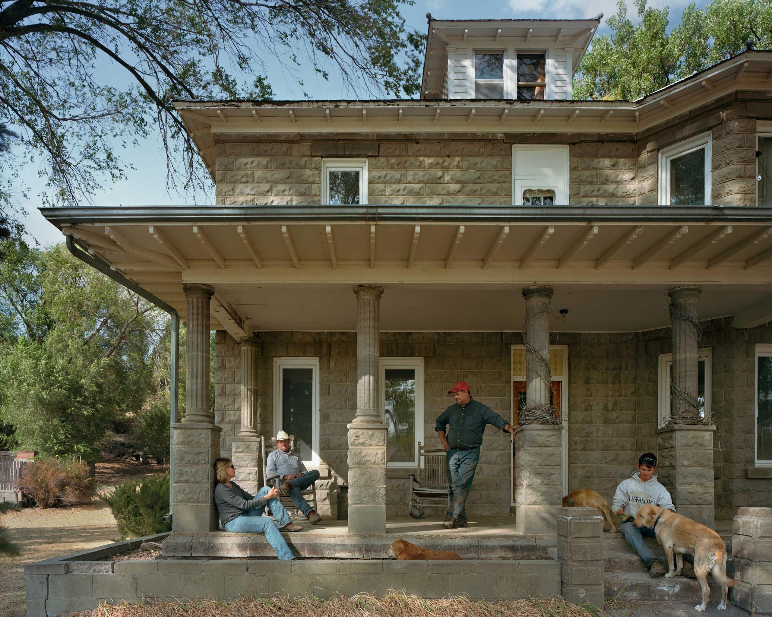 Abbott Family At The Big House. Cherry County, Nebraska, 2012.