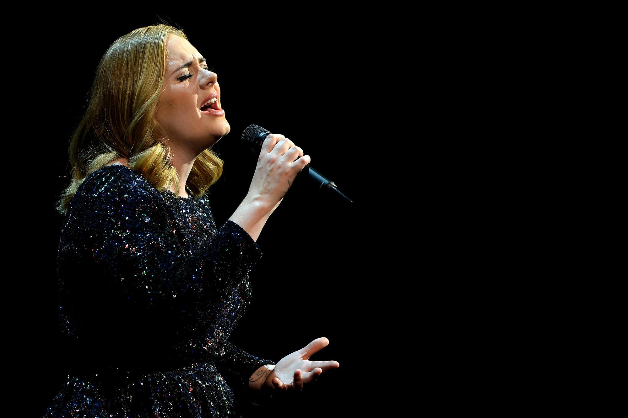 ANTWERPEN, BELGIUM - JUNE 12:  Adele performs at SportPaleis (Photo by Sascha Steinbach/Getty Images)