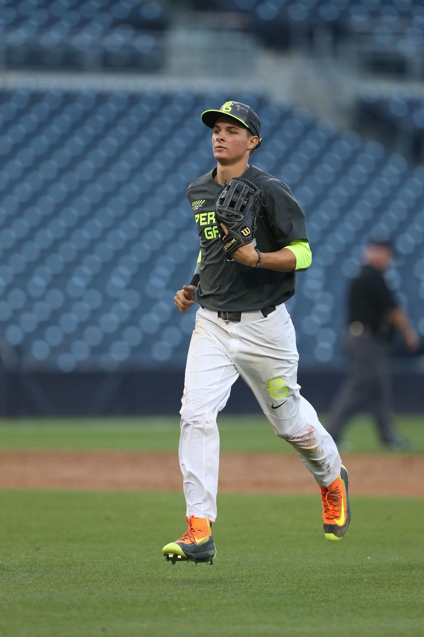 Mickey Moniak of the West team during the 2015 Perfect Game All-American Classic at Petco Park on August 16, 2015 in San Diego, California.