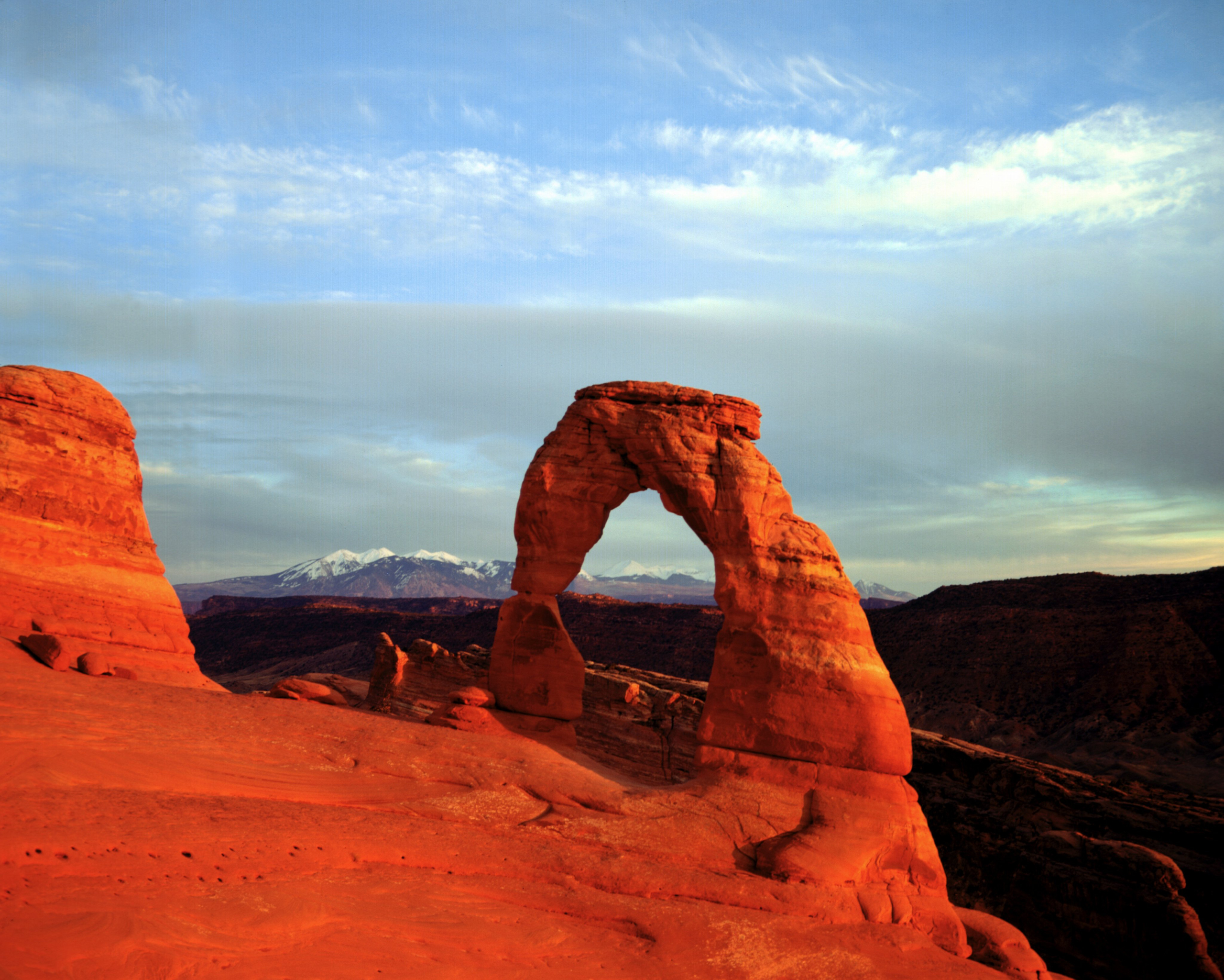 Arches National Park in Utah covers 76,679 acres
