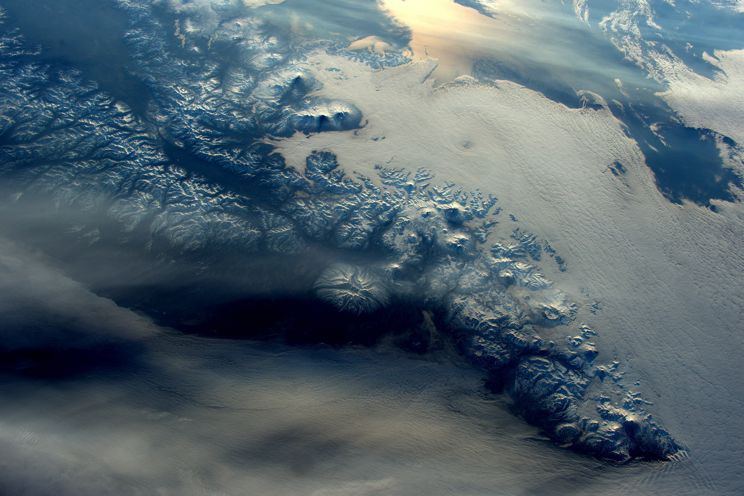 Volcanoes, part of the Pacific  Ring of FIre  in Kamchatka, Russia, May 16, 2016.