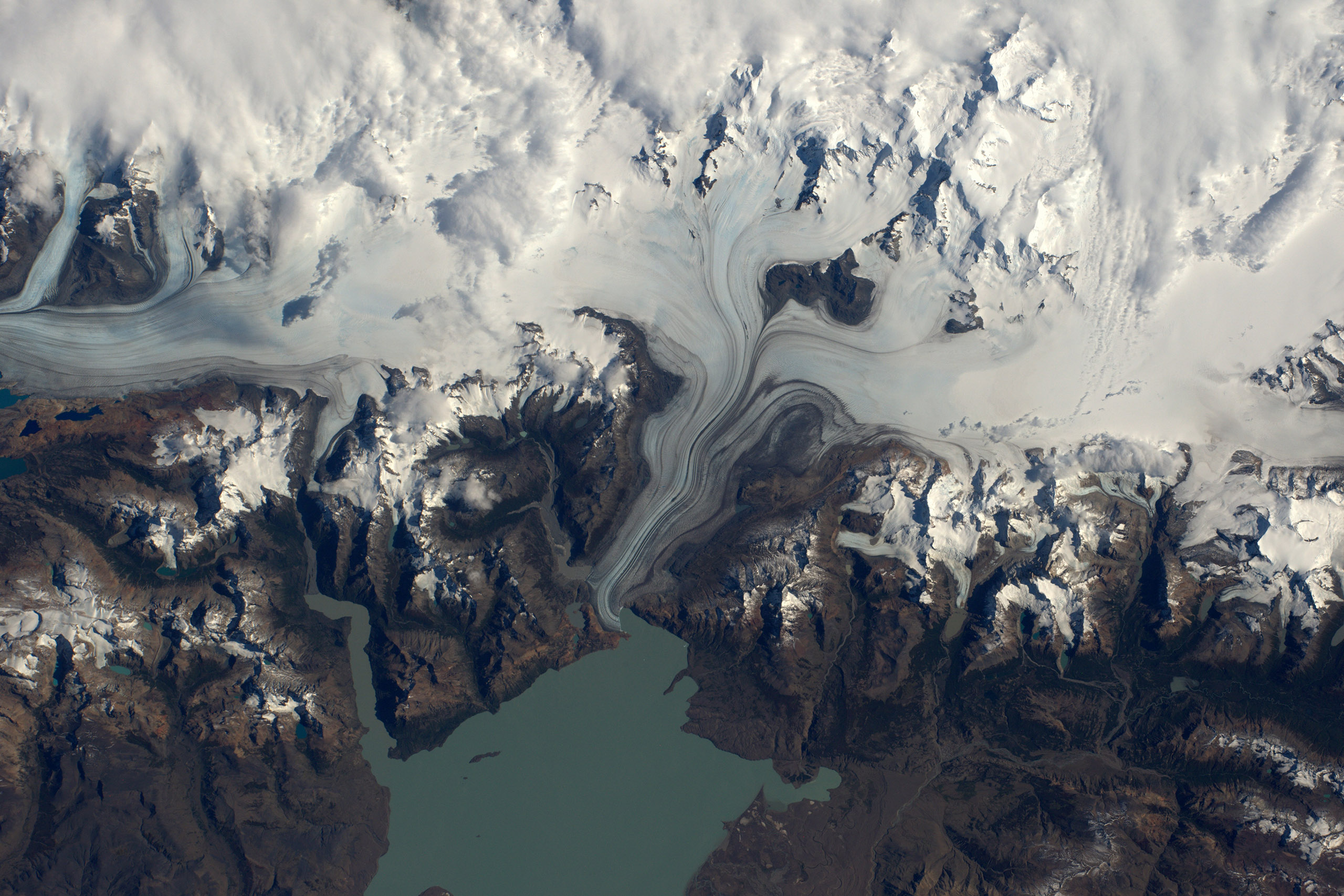 Lake Viedma in the southern ice fields of Patagonia, Argentina, March 24, 2016.