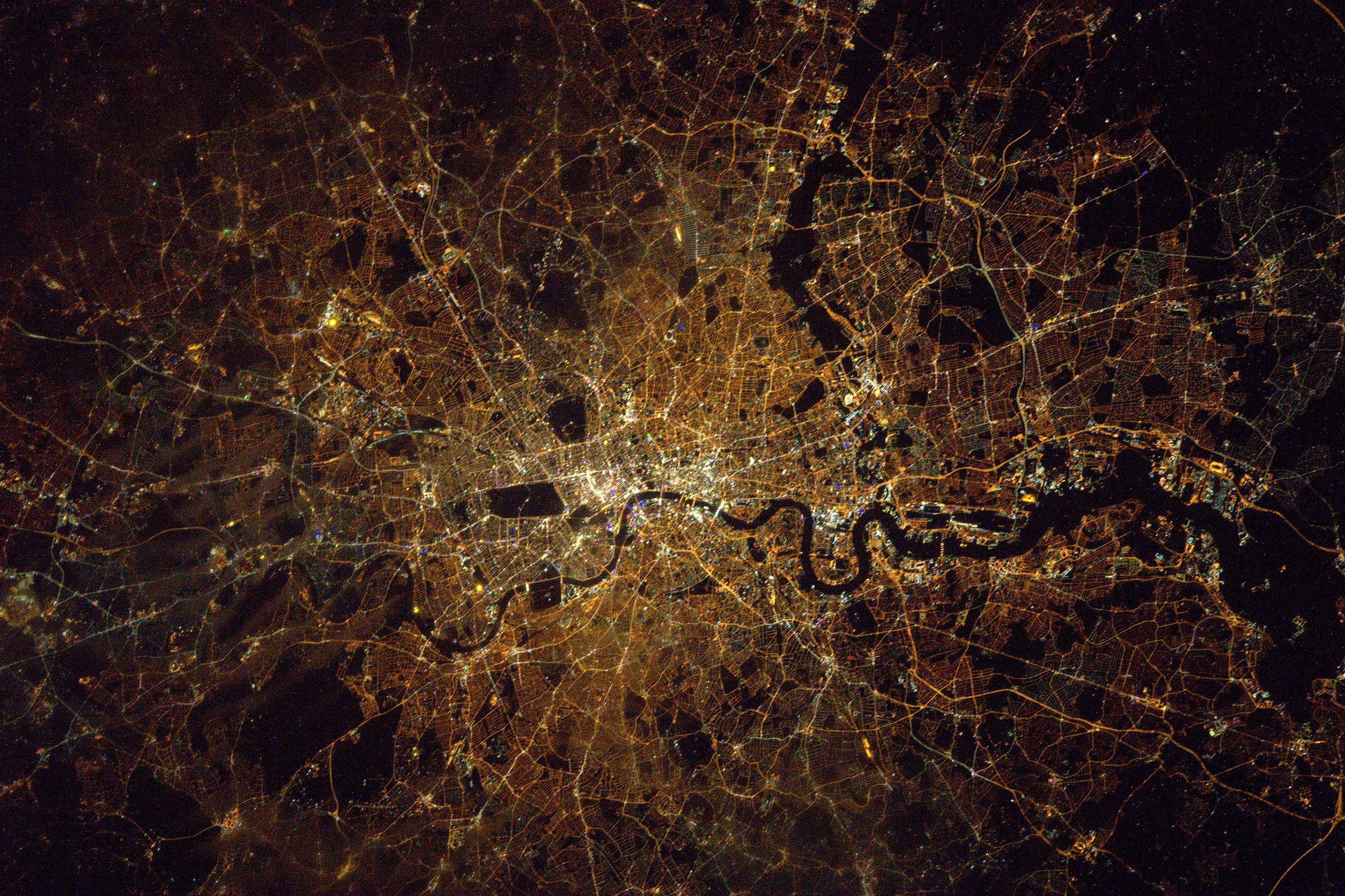 London at midnight, Jan. 30, 2016.