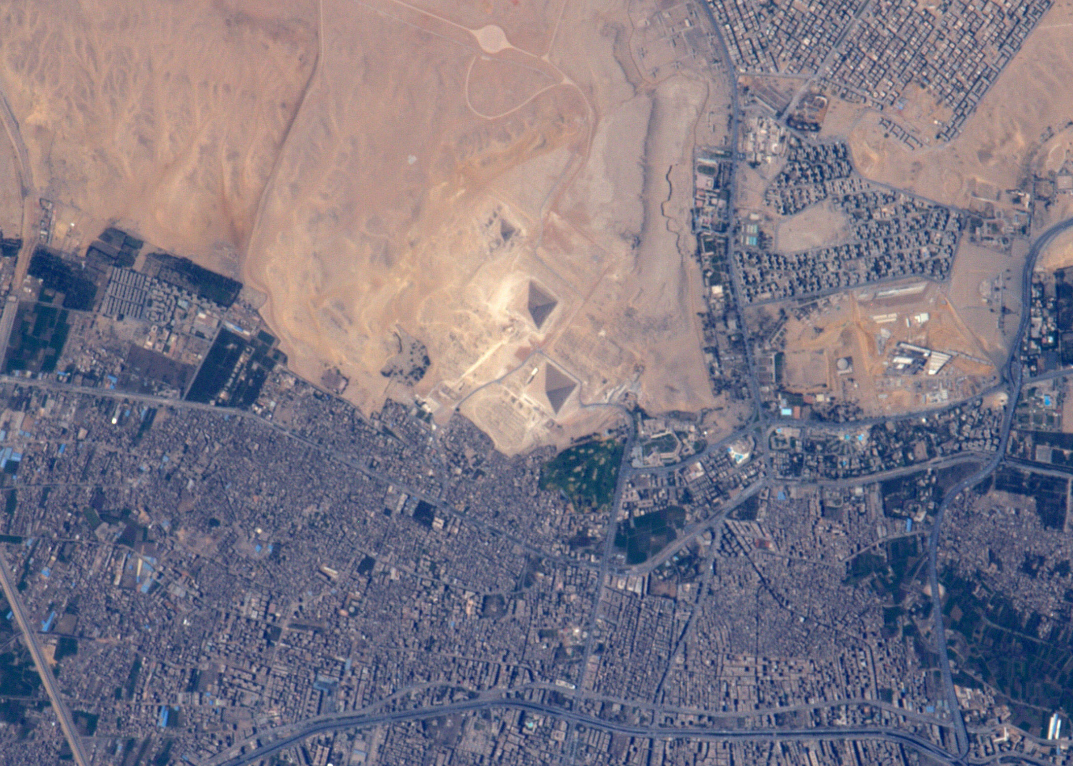 The Giza pyramids on the outskirts of Cairo, Egypt, April 19, 2016.