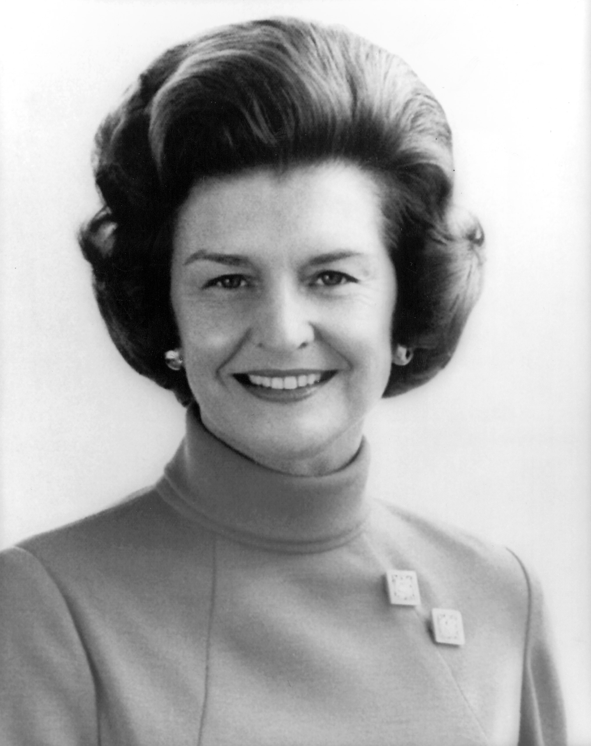 Betty Ford official White House Portrait in 1974.