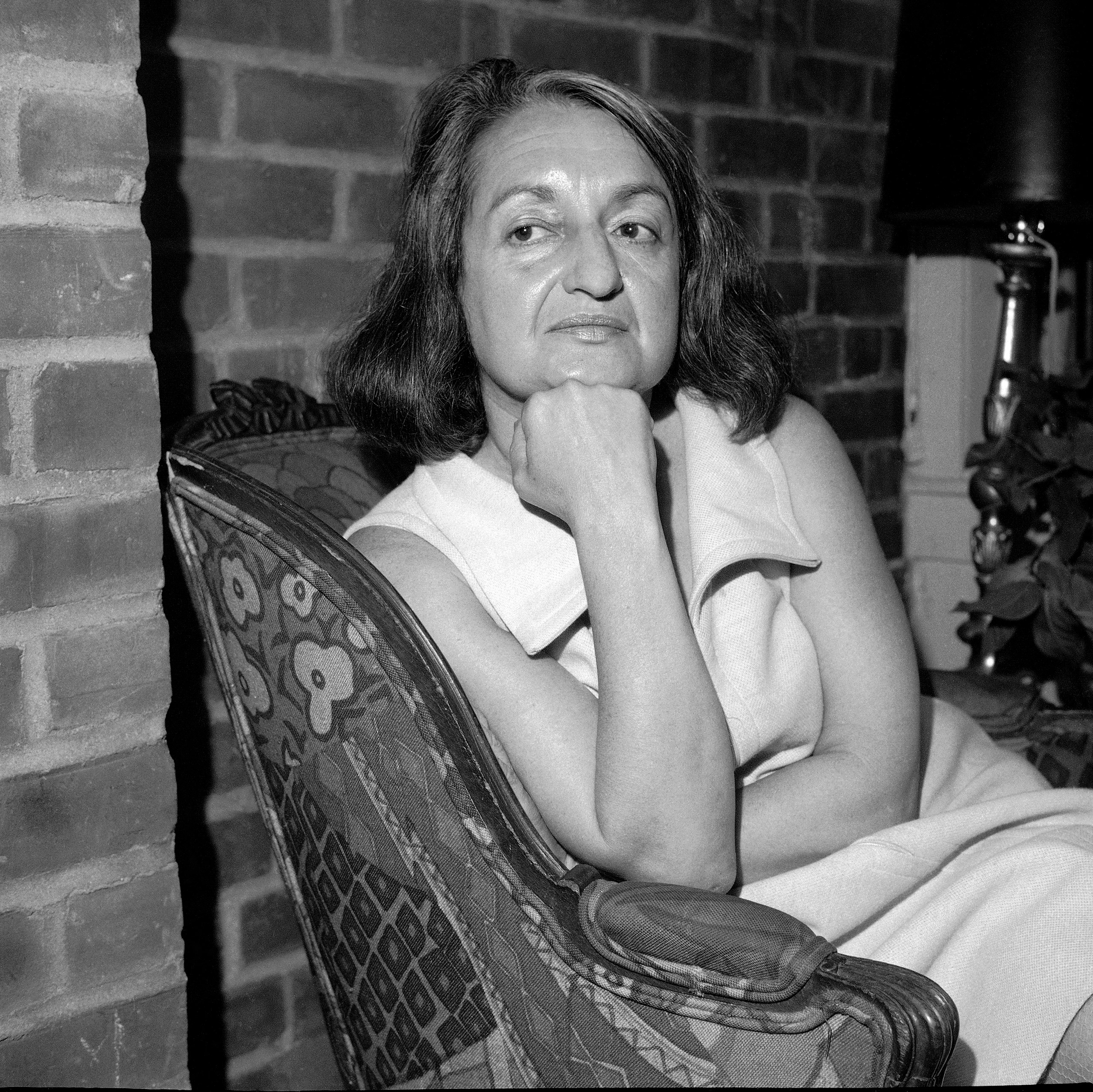 Betty Friedan at a press interview on May 25, 1970. Friedan is a feminist, activist, writer, best known for her 1963 book,  The Feminine Mystique.