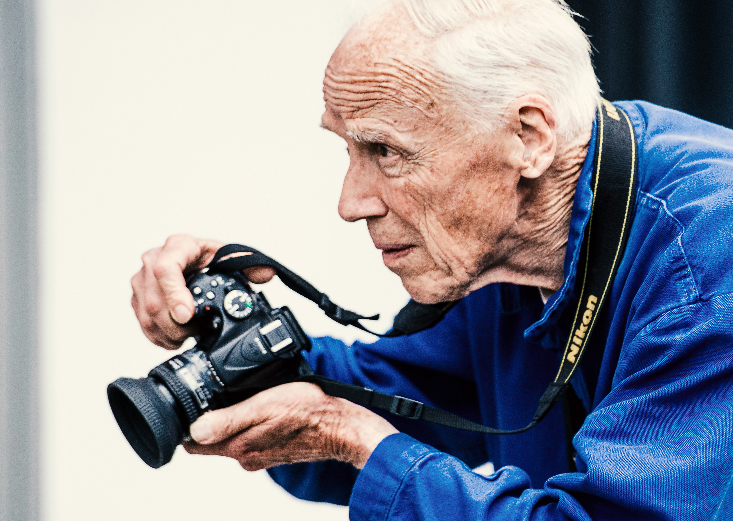 Photographer Bill Cunningham is seen outside Skylight Clarkson Sq during New York Fashion Week: Men's S/S 2016 in New York City on July 15, 2015.