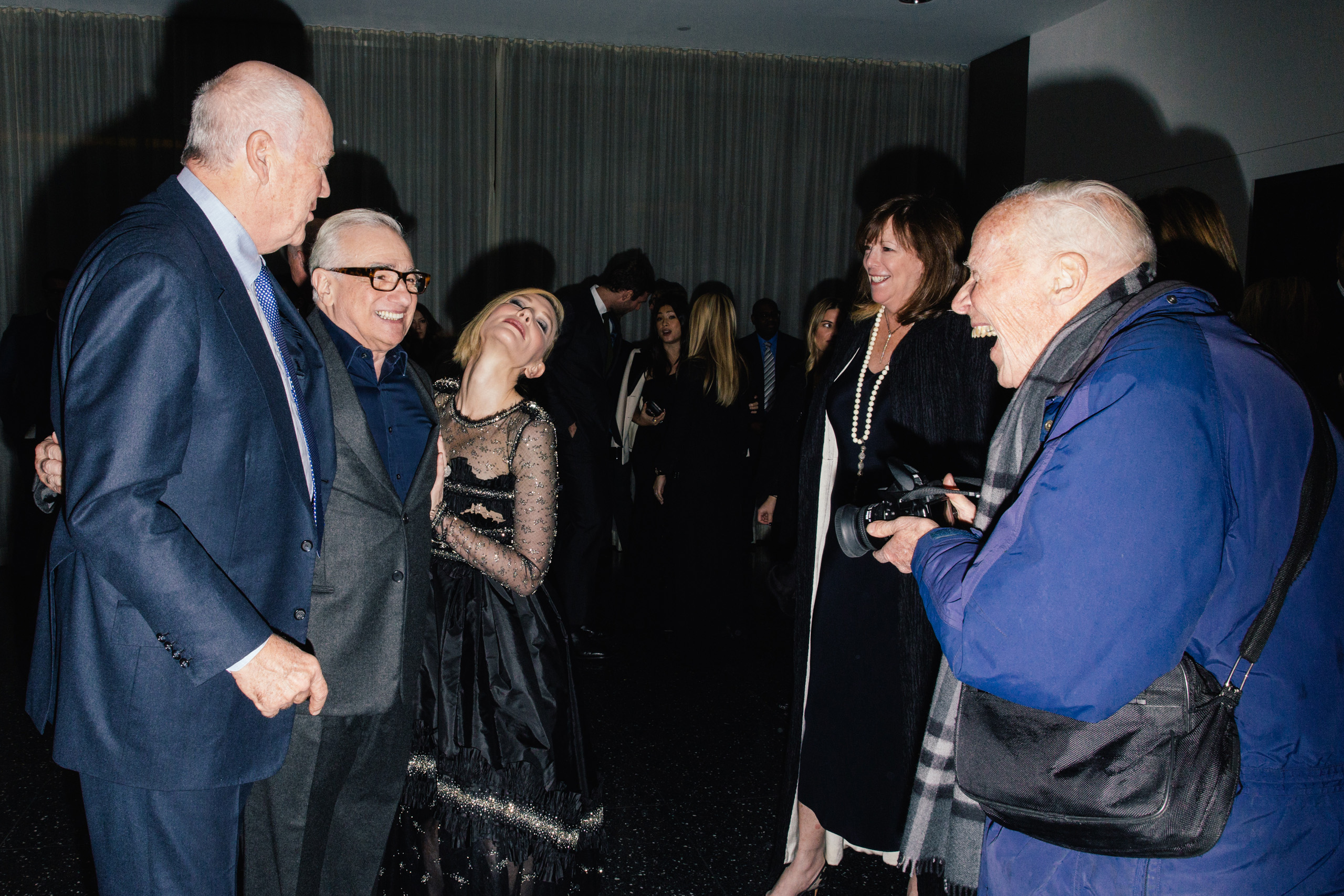 Director Martin Scorsese and actress Cate Blanchett pose for photographer Bill Cunningham at the Museum of Modern Art Film Benefit's Tribute to Cate Blanchett at MoMA in New York City on Nov. 17, 2015.