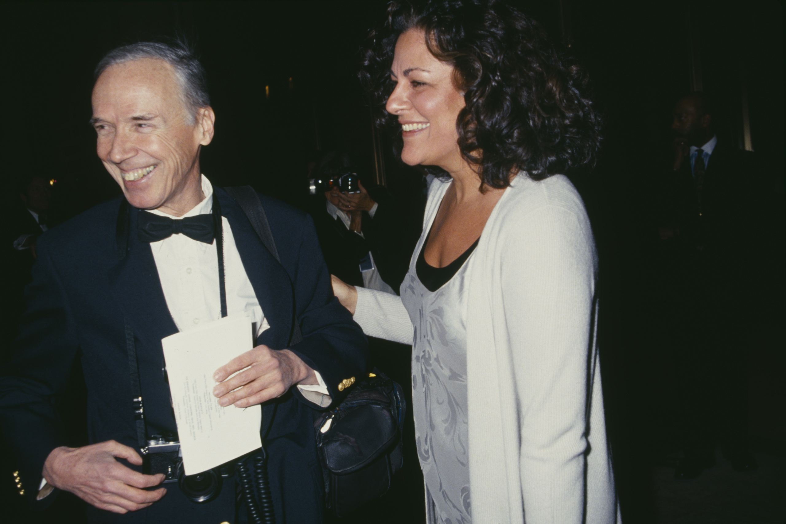 American fashion photographer Bill Cunningham and Executive Director of the Council of Fashion Designers of America (CFDA), Fern Mallis, at the CFDA Awards, in 1994.