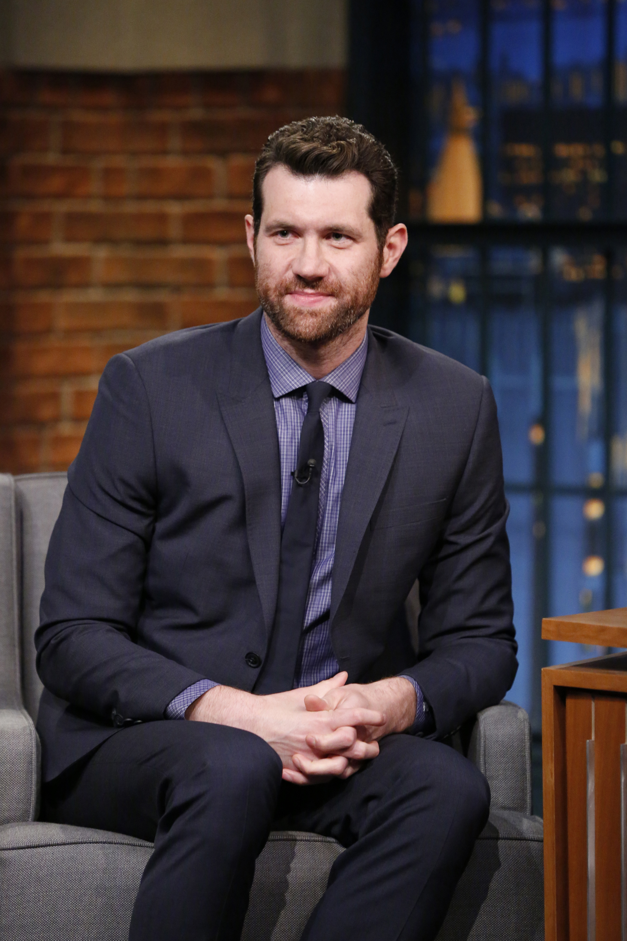 Billy Eichner during  Late Night with Seth Meyers  on June 20, 2016.