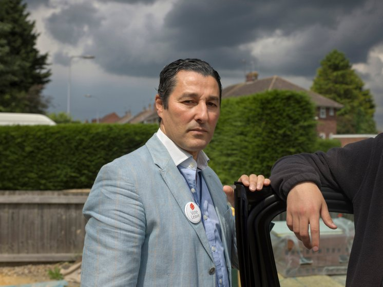 """""""I supported Leave for a long time"""" said Borough Councilman Anton Dani, age 50, born in Morocco but has lived in England for more than 20 years. """"We want to control our borders and make our own rules."""" Boston, Lincolnshire, June 25, 2016."""
