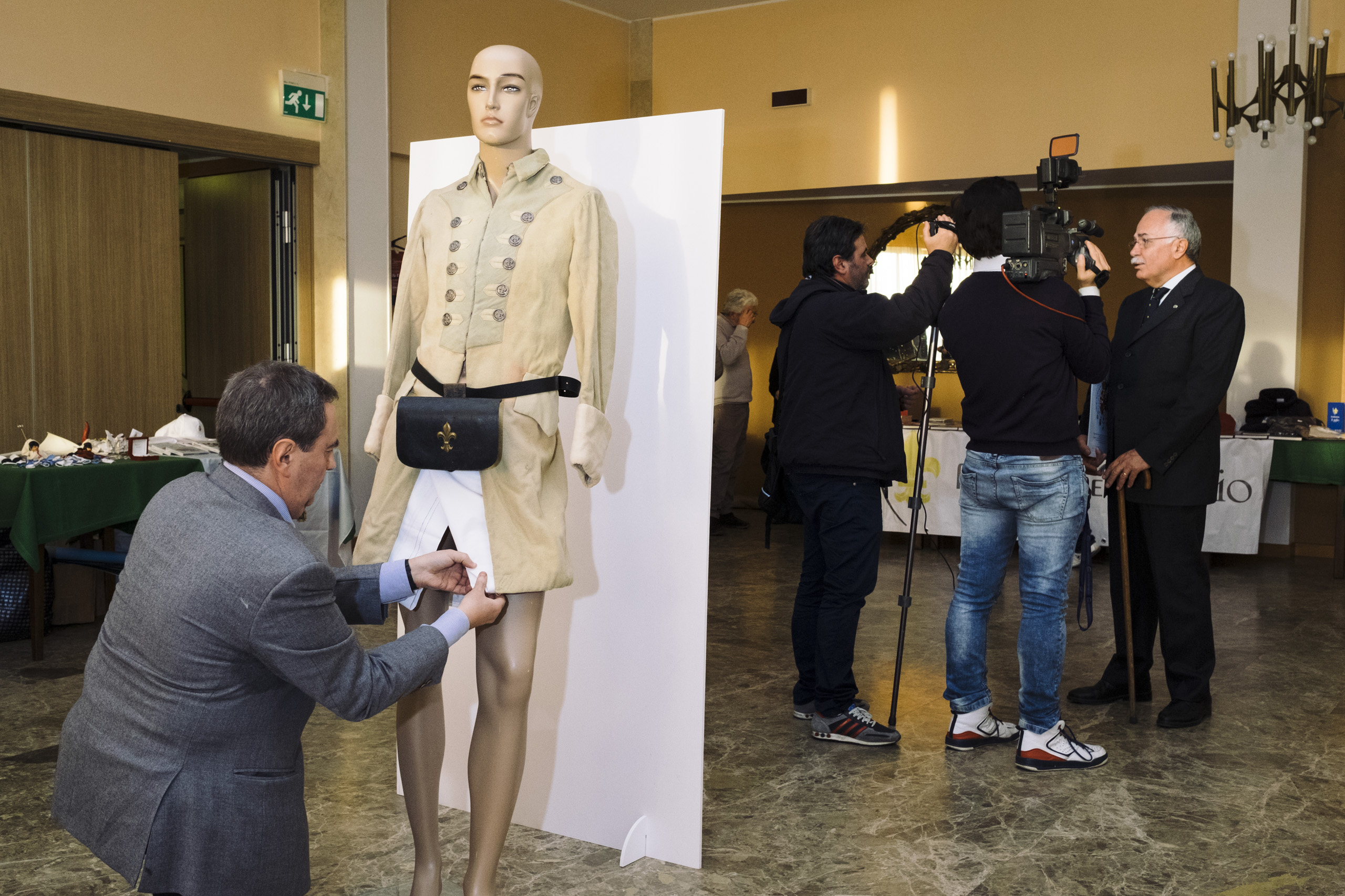 A mannequin with the uniform of an old Bourbon soldier is set up in Gaeta during the annual  Neo-Bourboun Cultural Association  (Movimento Neoborbonico) meeting, February, 2016. The association meets up every year in Gaeta to remember the siege of the city in one of the last battles before unification.