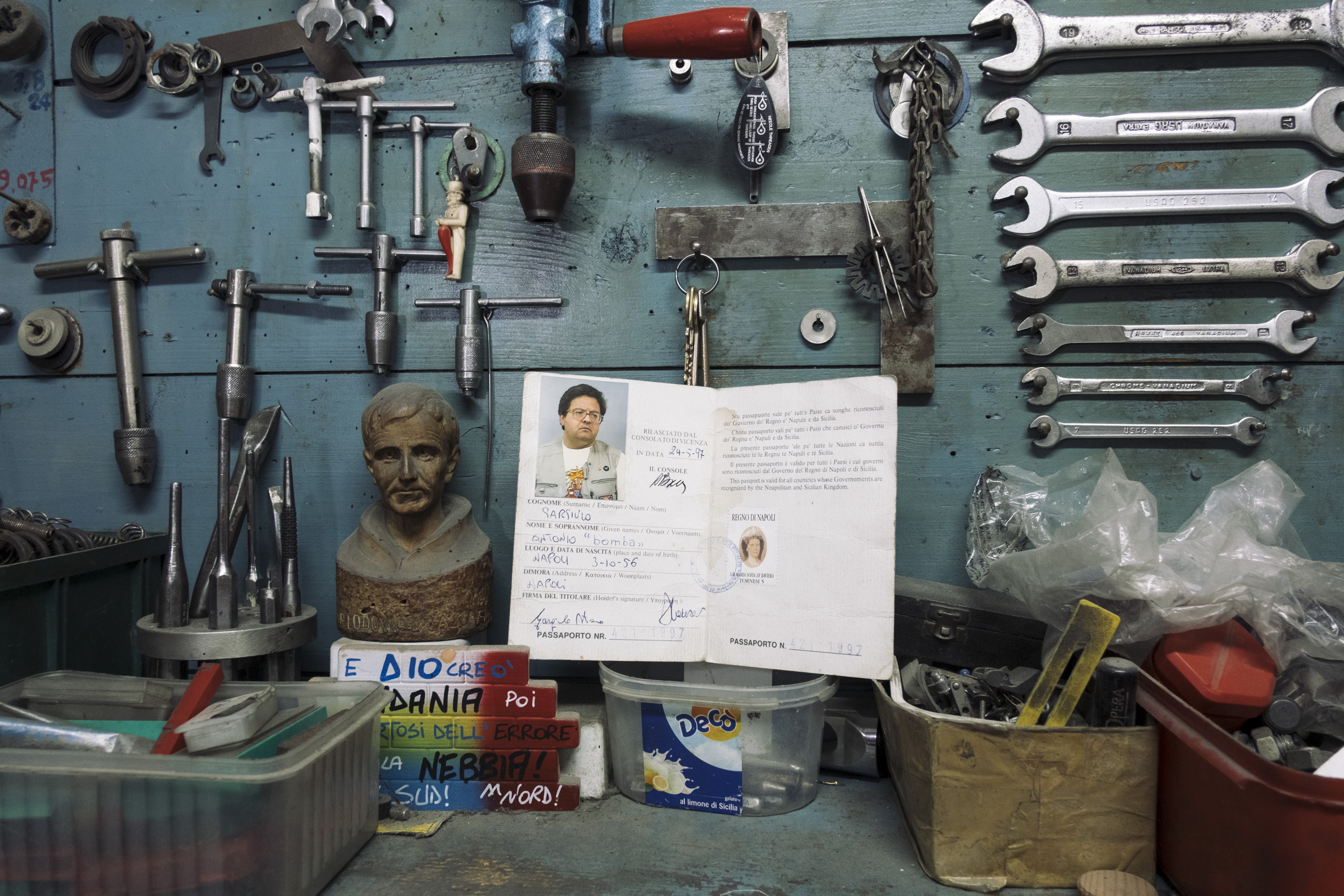 A Kingdom of Two Sicilies passport belonging to a Neapolitan artisan, April, 2016.